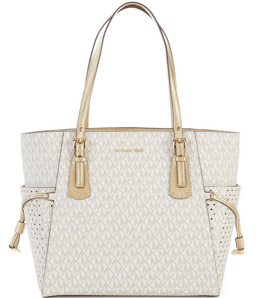 d4819050a668 MICHAEL Michael Kors Signature Voyager East/west Tote in Metallic - Lyst