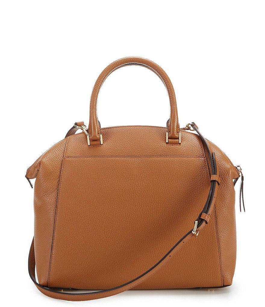 c771a3586609 ... where to buy michael michael kors brown riley large satchel lyst. view  fullscreen e8696 9925f ...