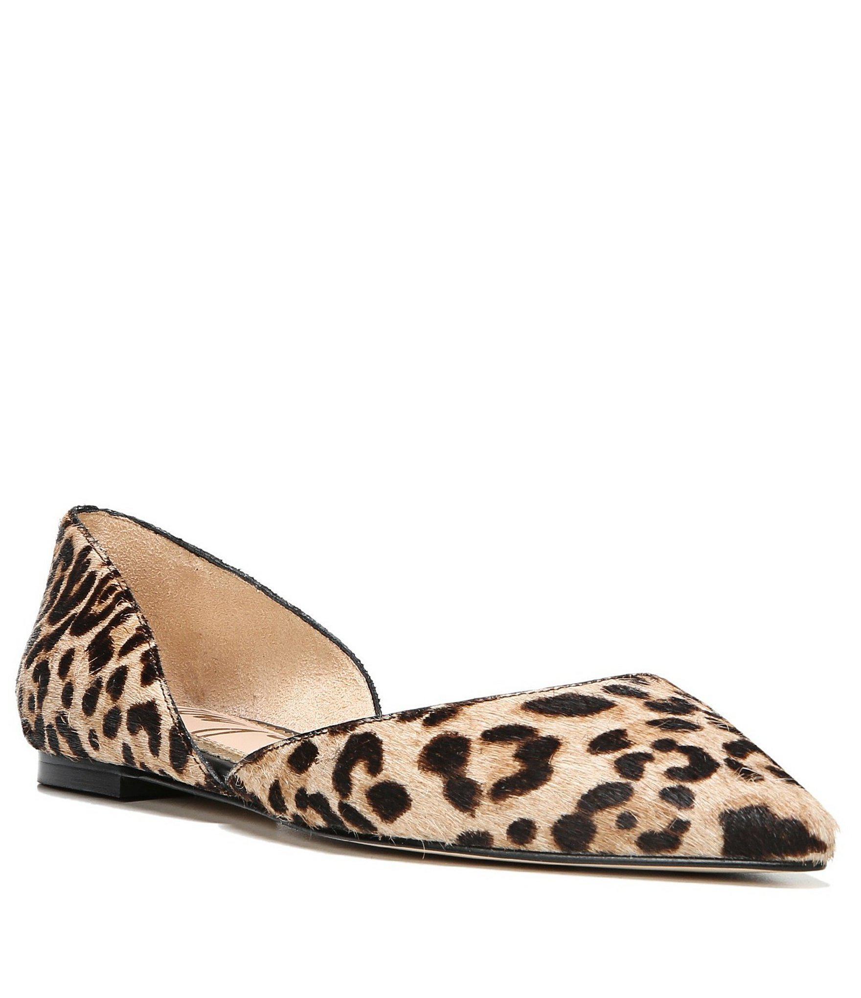 b4d6d6622173 Lyst - Sam Edelman Rodney Leopard Print Calf Hair D orsay Flats ...