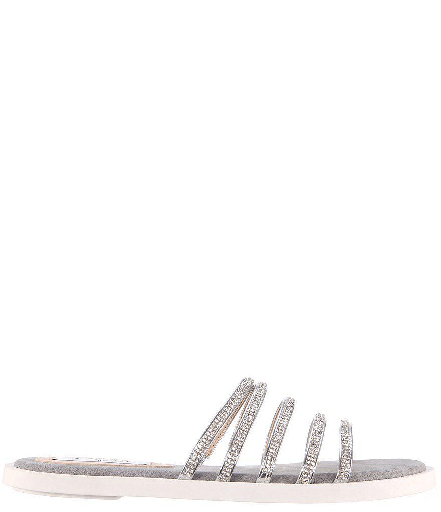 Nina Sabrina Crystal Embellished Strap Sandals a2qm1a3k