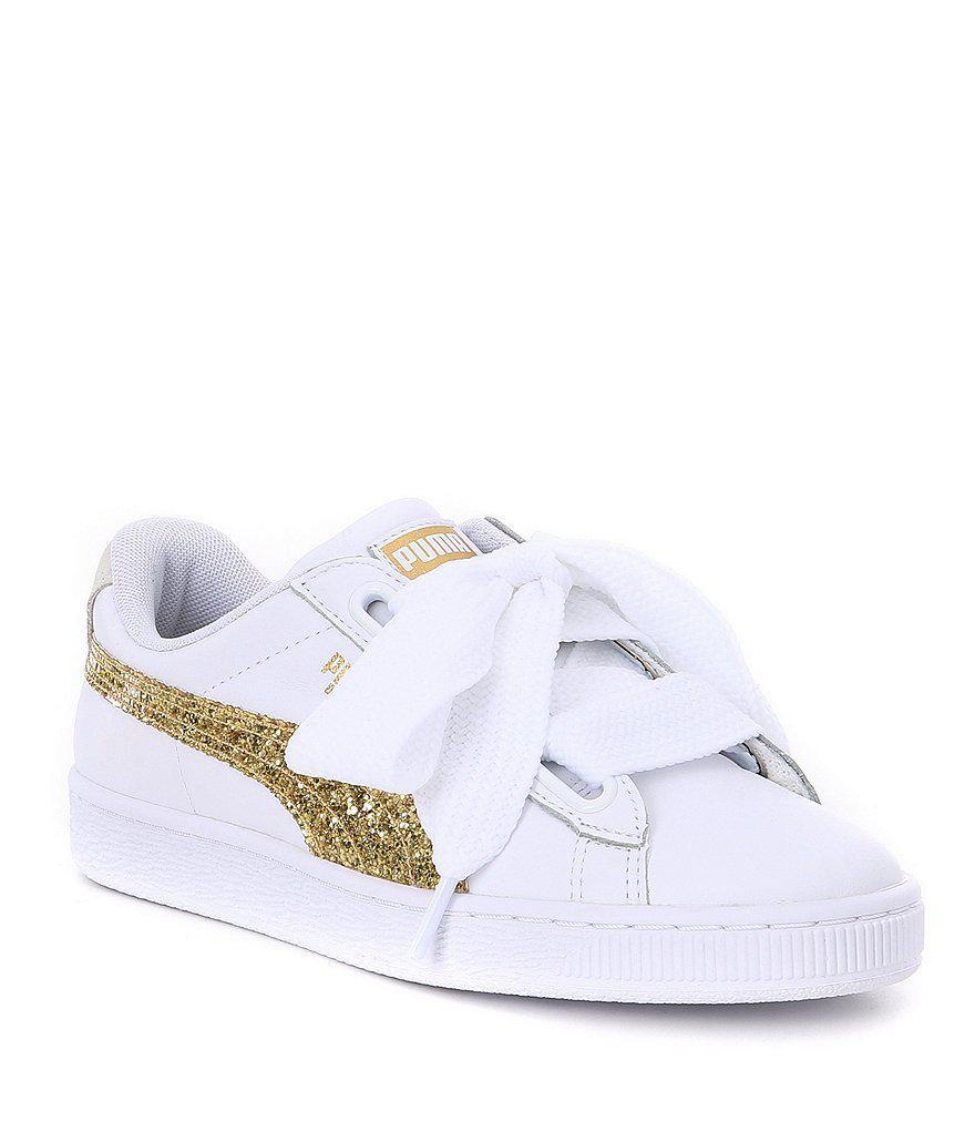 a34cc535d350 PUMA Basket Heart Glitter Sneakers in Black for Men - Lyst
