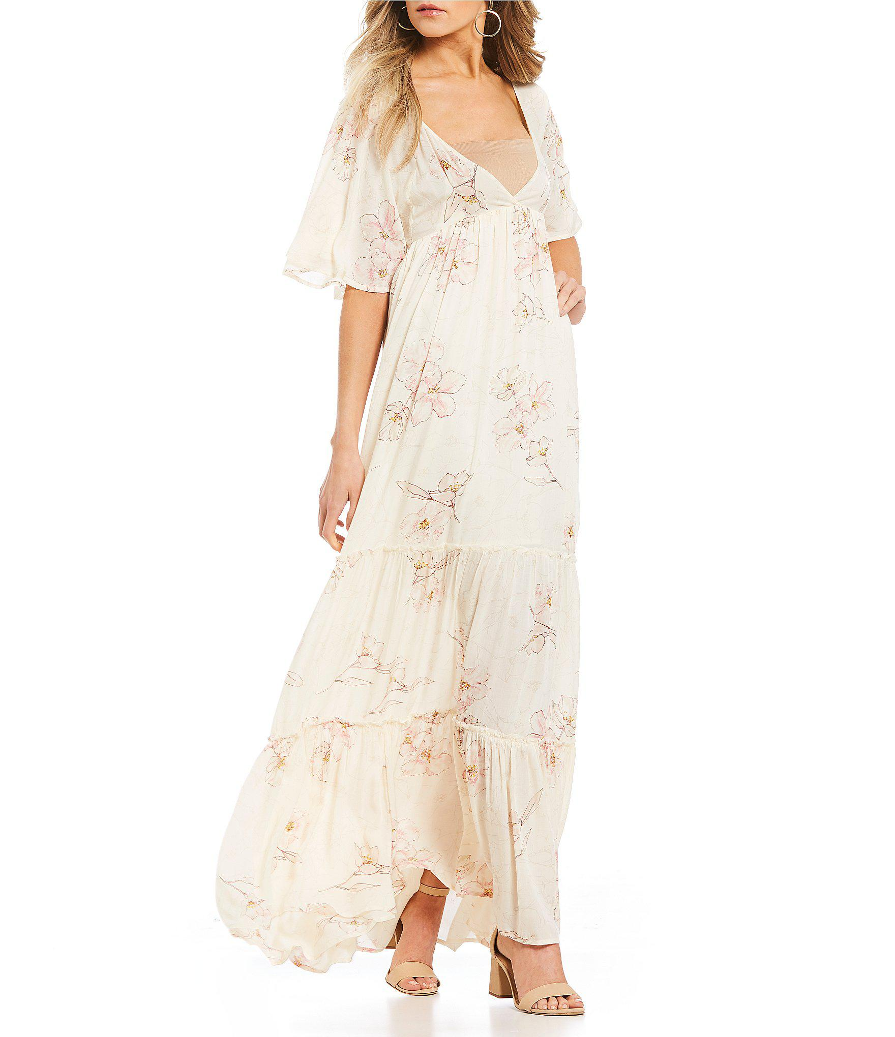 5b0efe5a57f Billabong Seas The Day Floral Printed Tiered Ruffle Maxi Dress in ...