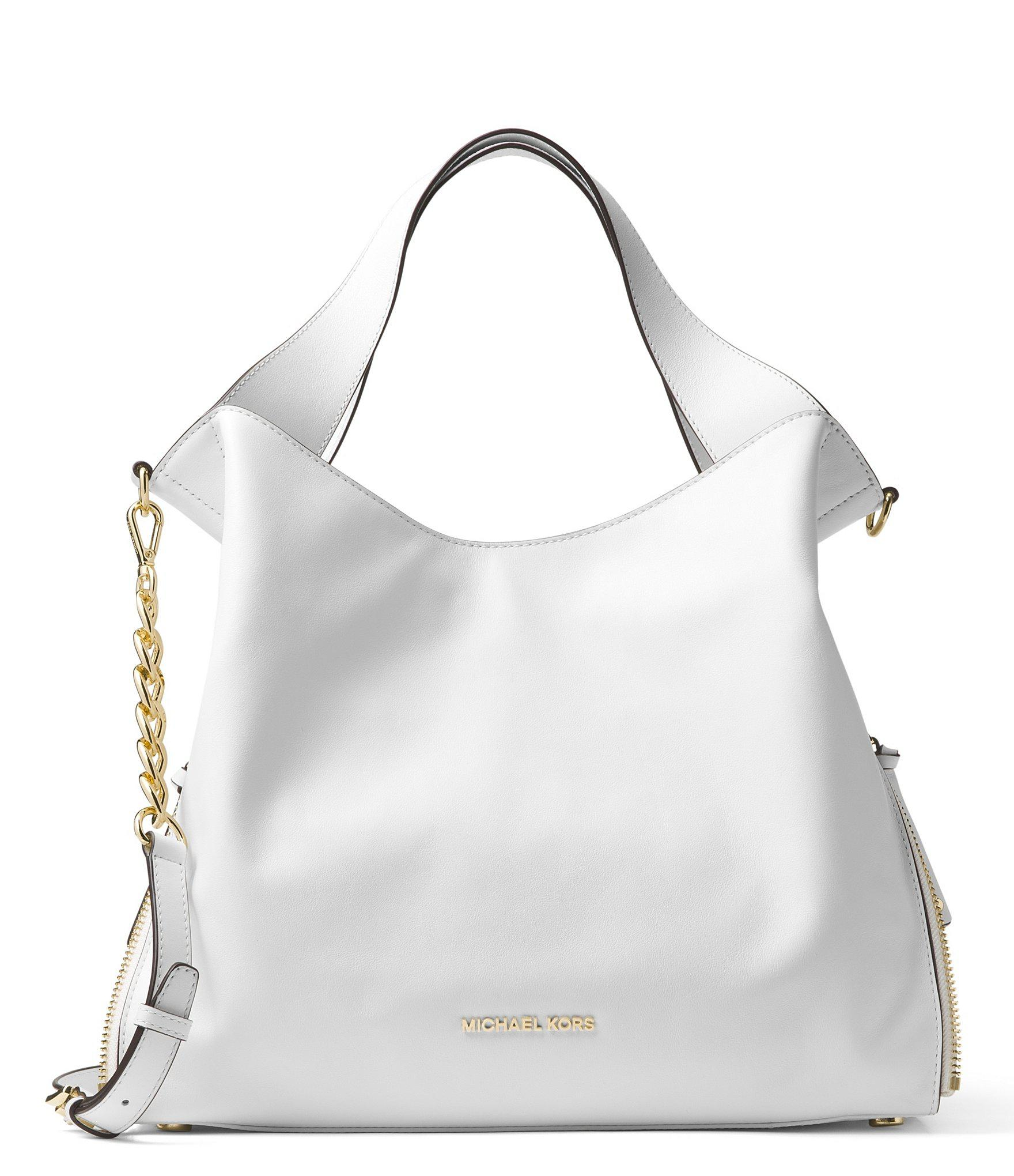 09d58a5d2ee8 Lyst - MICHAEL Michael Kors Devon Large Tote in White