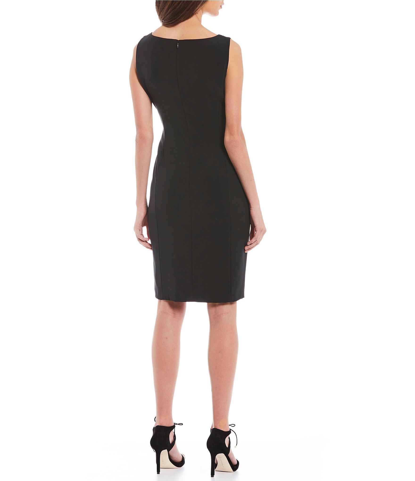 f08bc782847 Antonio Melani - Black Cynthia Sleeveless Sheath Dress - Lyst. View  fullscreen