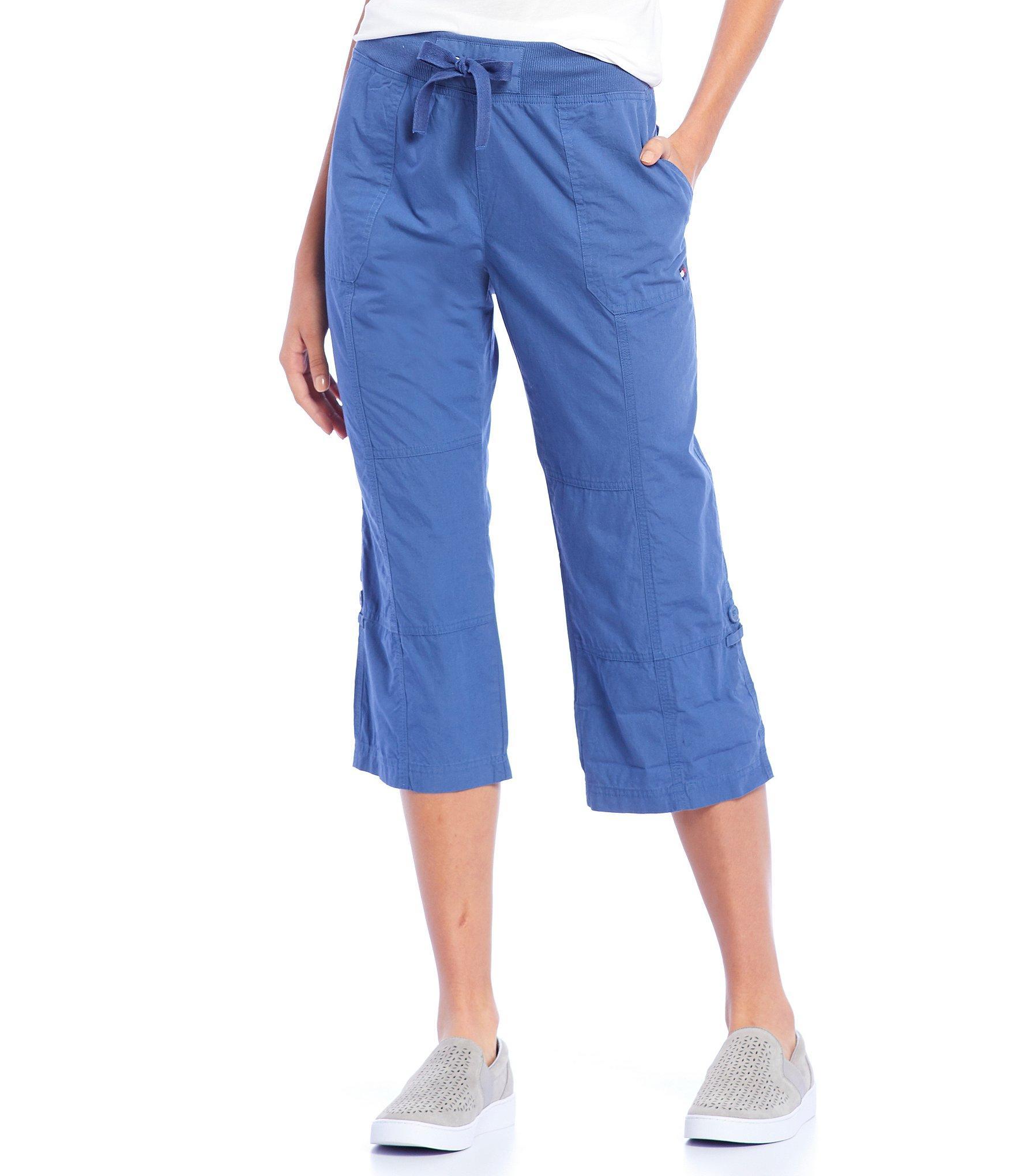 08077056b1 Lyst - Tommy Hilfiger Sport Convertible Length Capri Pants in Blue