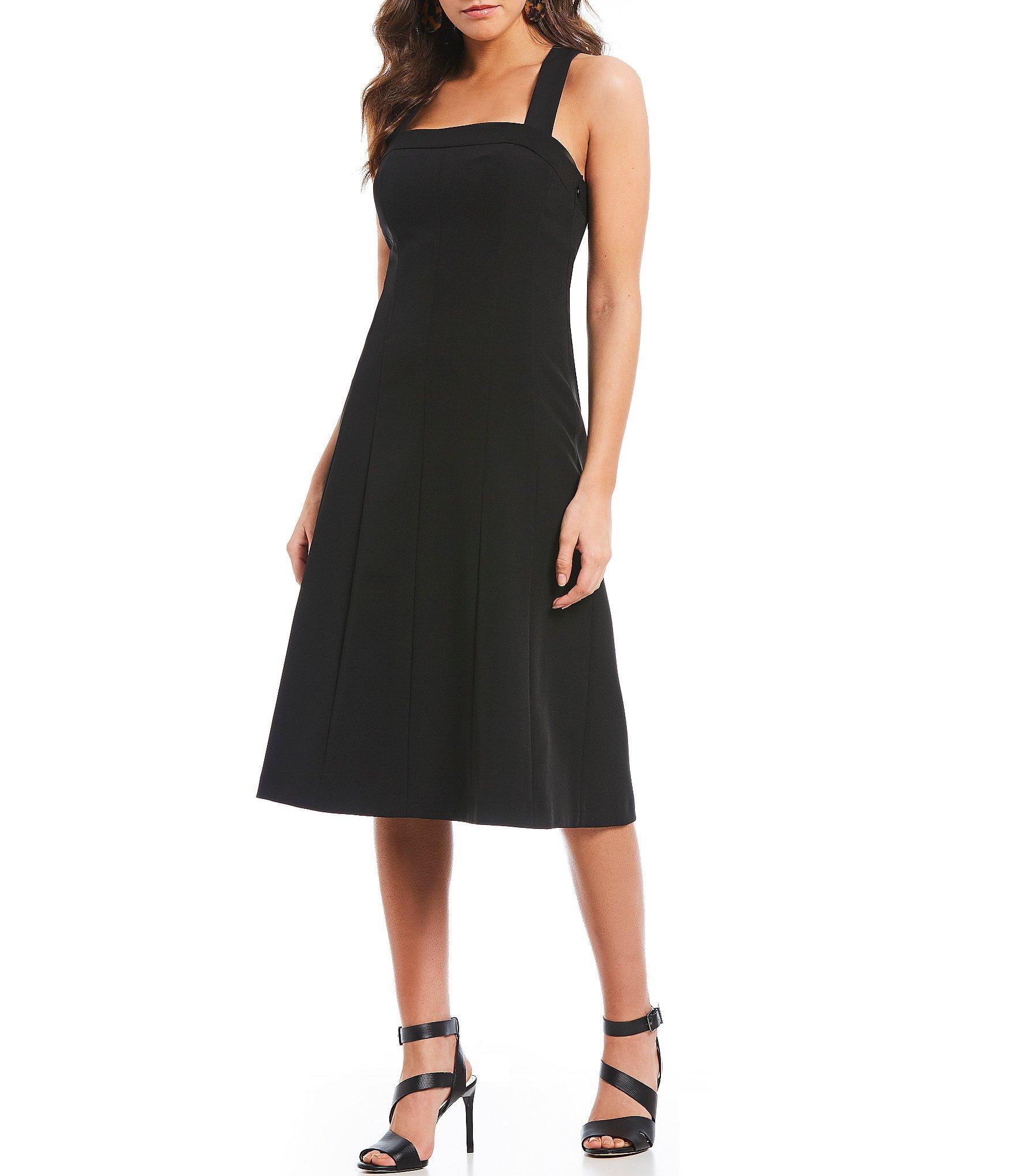 1f42b6158 Gianni Bini Gia Sleeveless Square Neckline Midi Dress in Black - Lyst