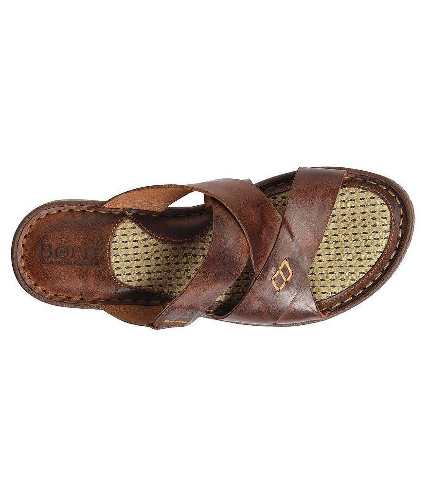 Born Hayka Leather Slides Rqin7k7r