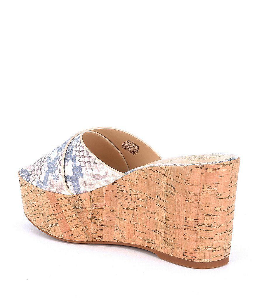 Kessina Snake Print Platform Wedge Sandals 8X6Iwf