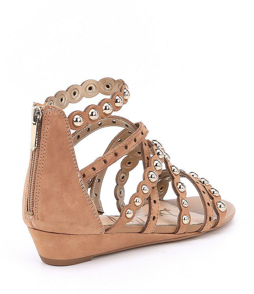 Dustee Studded Suede Demi Wedge Sandals 7bqjmLyRc6