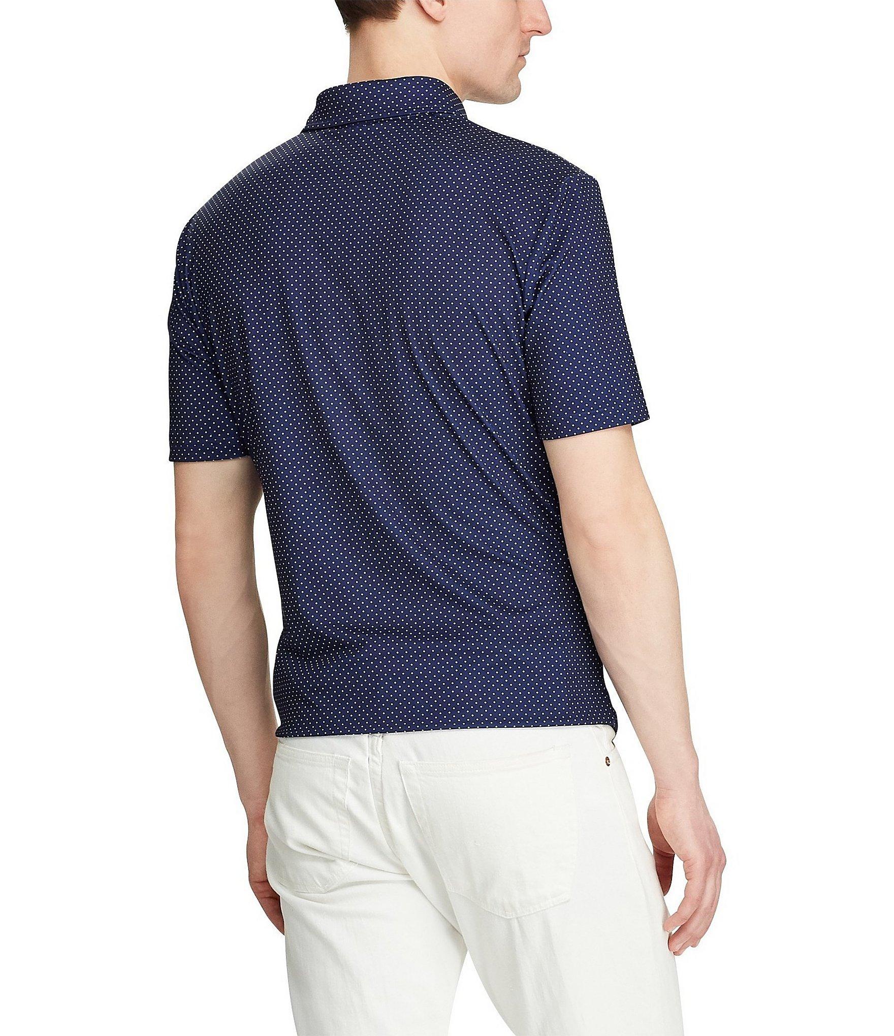 99d14cc16 Polo Ralph Lauren - Blue Polka Dot Performance Short-sleeve Polo Shirt for  Men -. View fullscreen