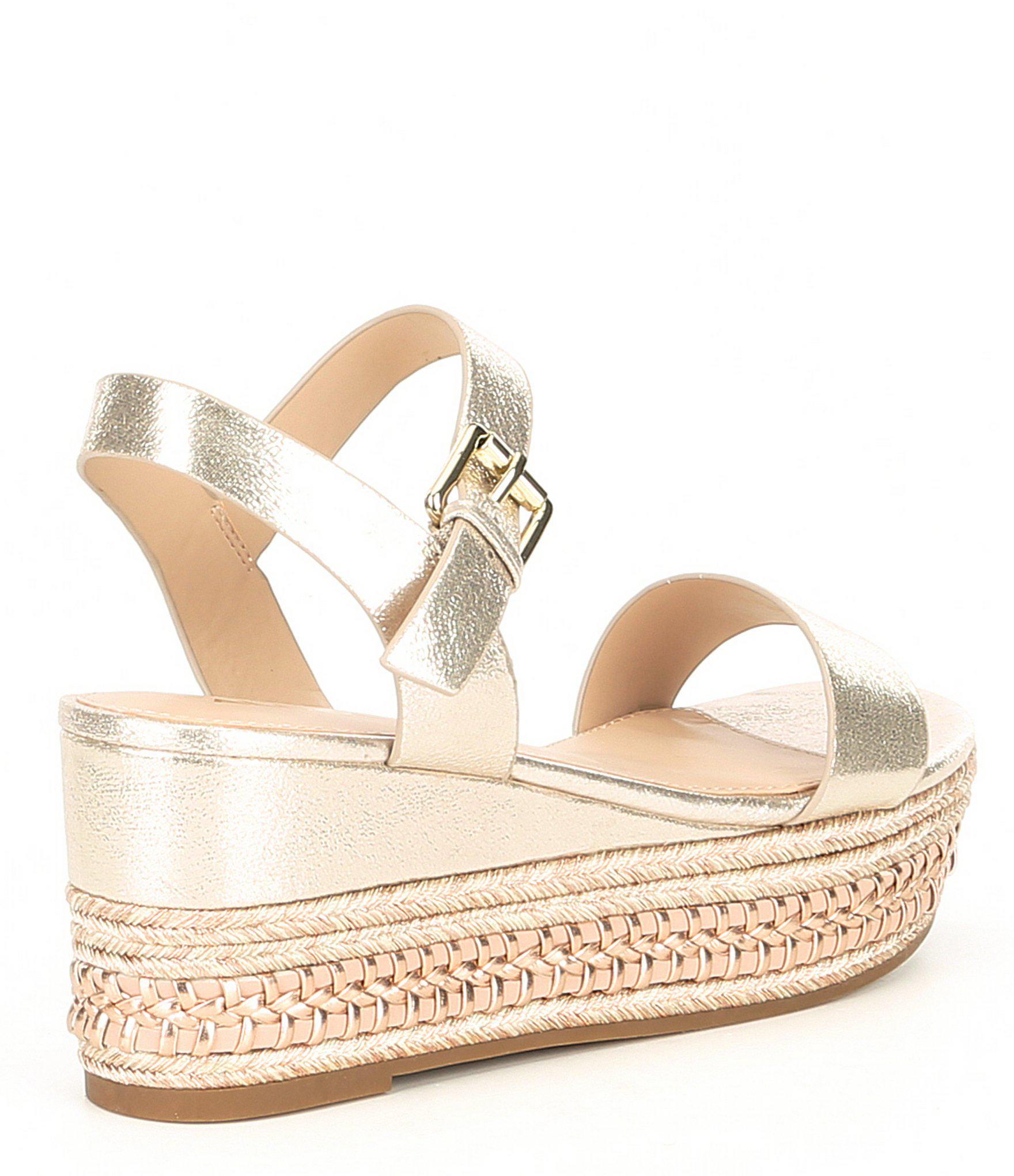 768250eaf5d1 ALDO - Metallic Mauma Espadrille Sandals - Lyst. View fullscreen