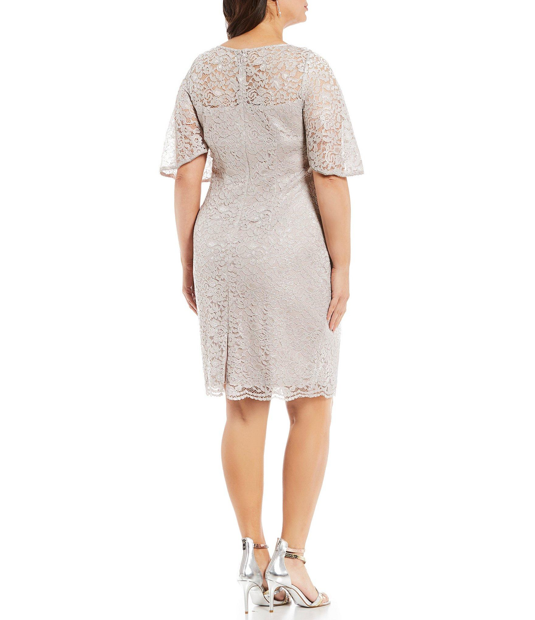 dde01a972a4 Adrianna Papell - Multicolor Plus Size Lace Sheath Dress - Lyst. View  fullscreen
