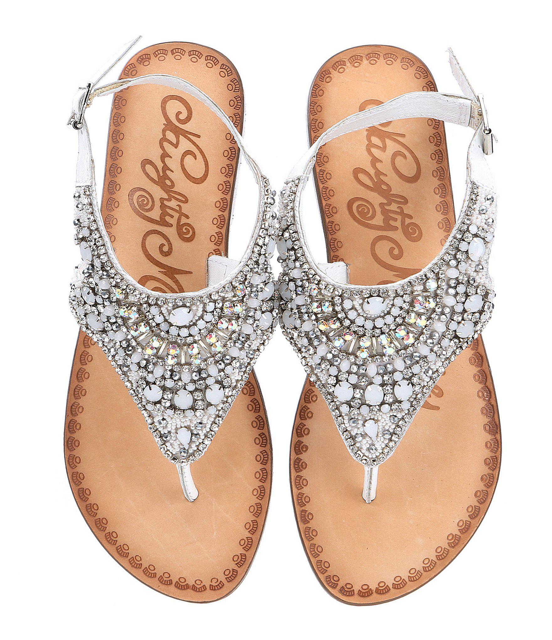 158d7ec508cb Lyst - Naughty Monkey Ice Berg Jeweled Sandals in White