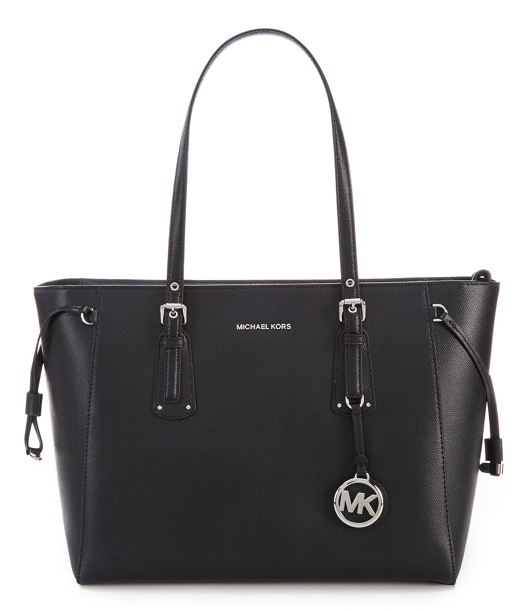 0aa7a73febcd Lyst - MICHAEL Michael Kors Voyager Top-zip Silver Tone Tote in Black