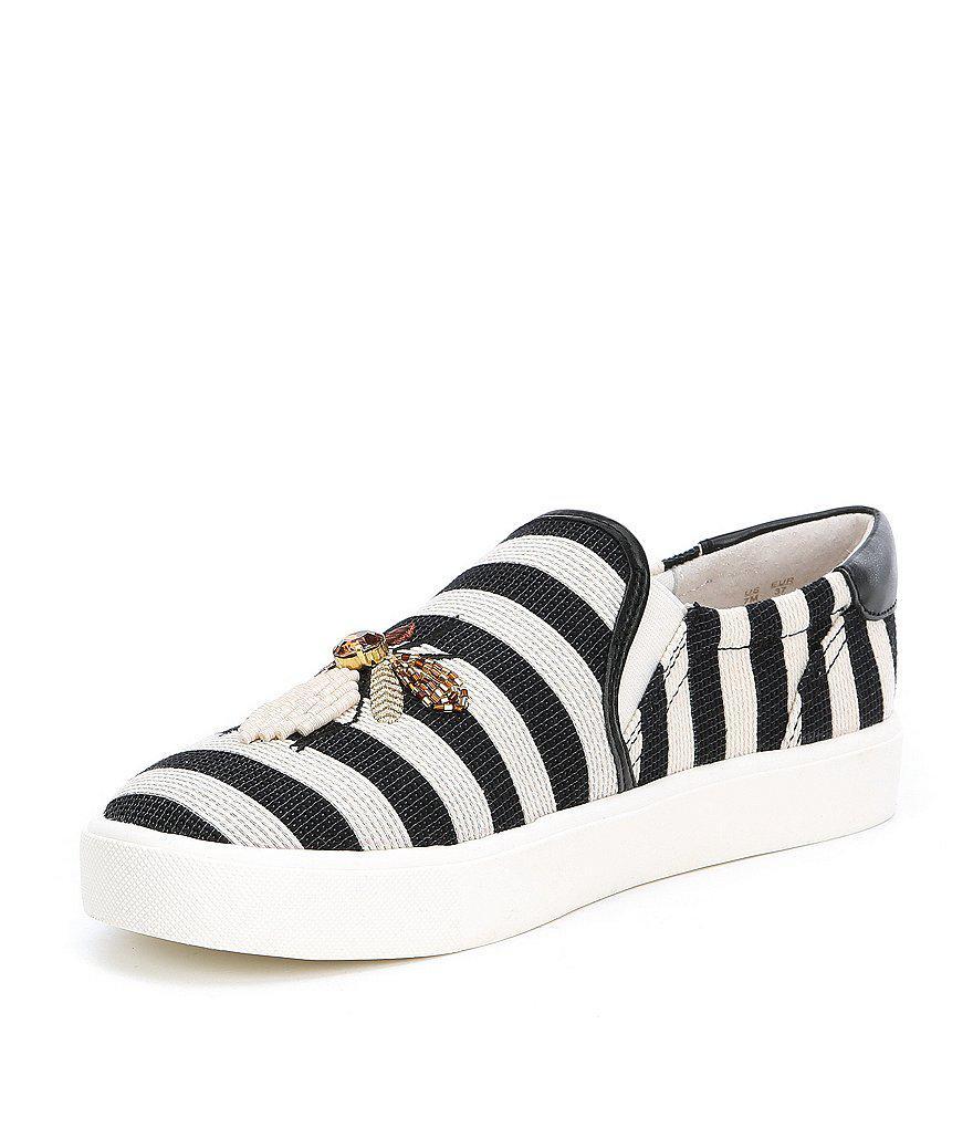 a15e24898574 Sam Edelman Evelina Embroidered Bee Embellishment Sneakers in Black ...