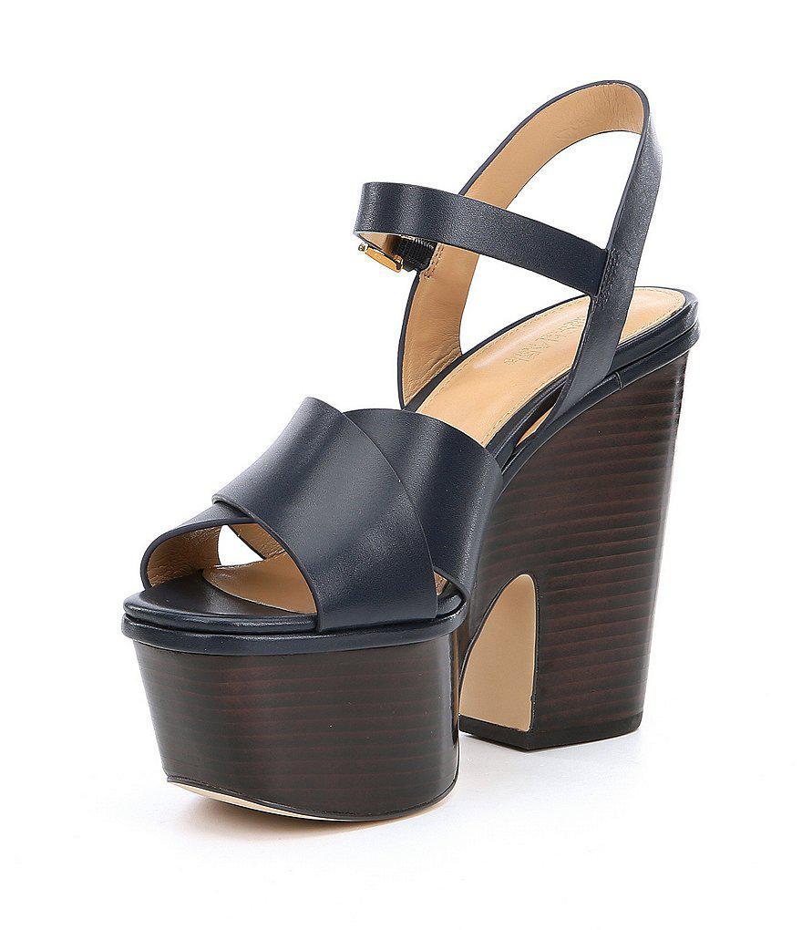 c1e117a51b23 Lyst - MICHAEL Michael Kors Divia Platform Wedge Sandals