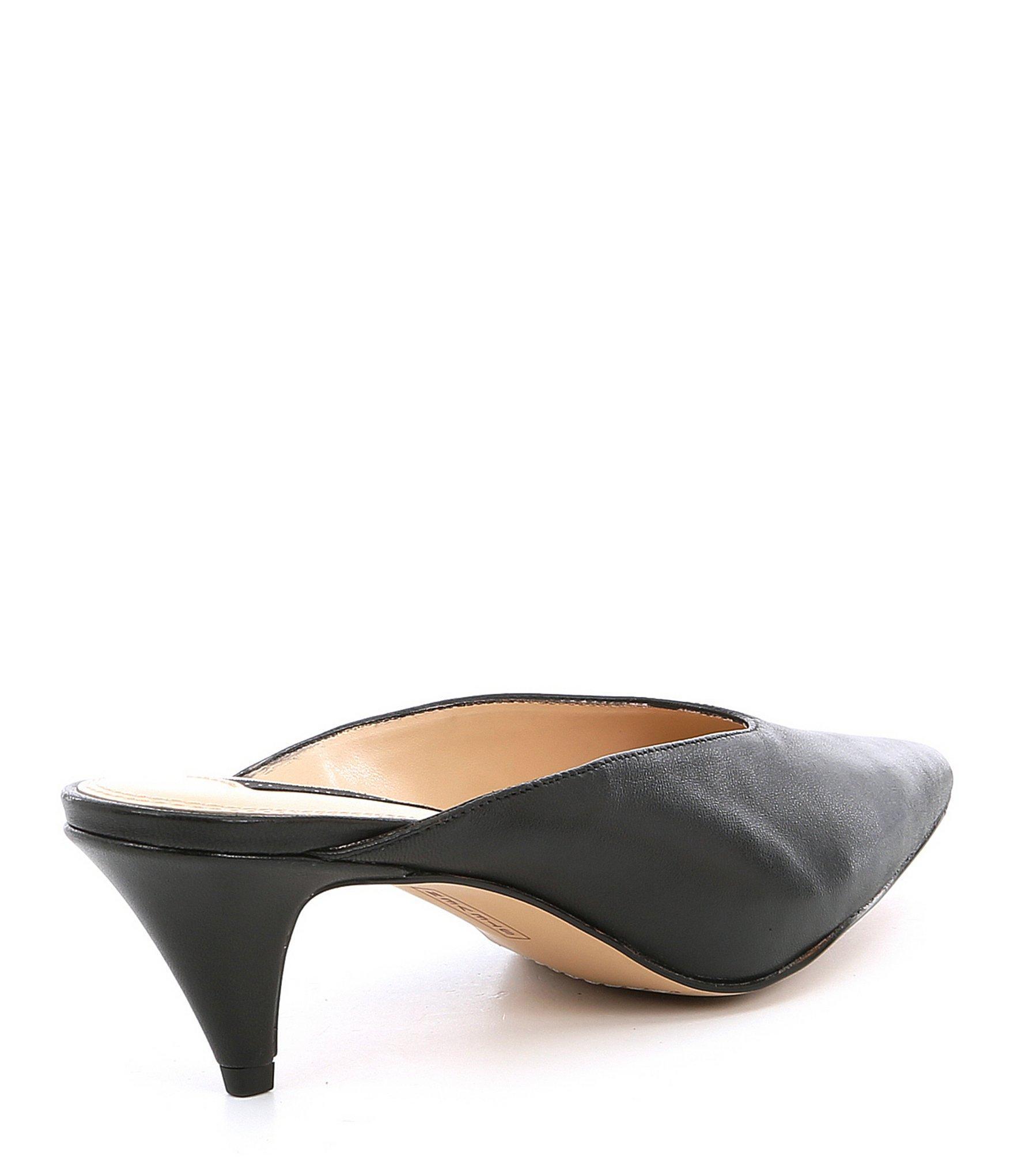 dd99da43423 Steve Madden Steven By Elora Leather Kitten Heel Mules in Black ...
