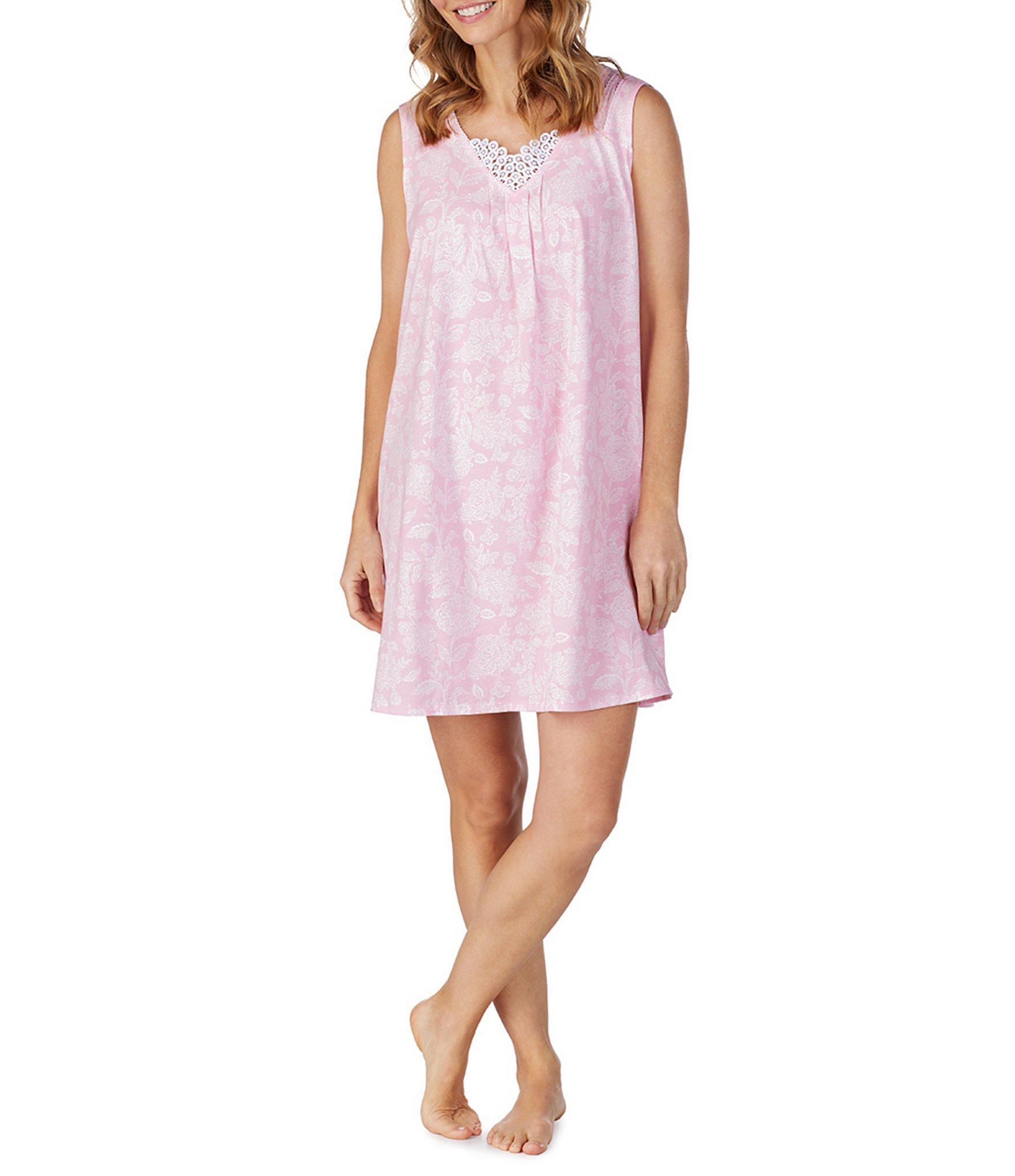 c3db9fbce9 Carole Hochman - Pink Damask-printed Jersey Knit Short Gown - Lyst. View  fullscreen