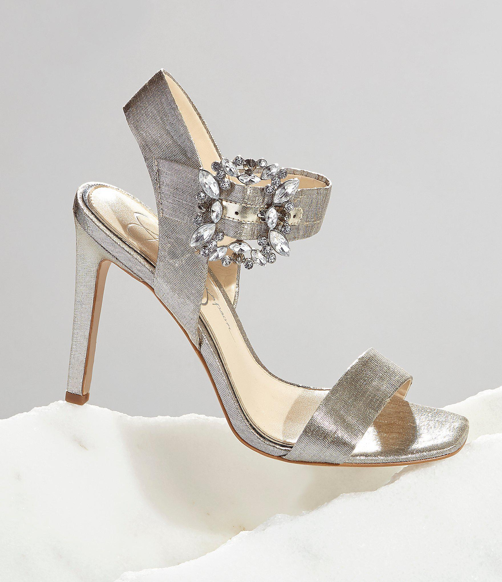 2be91ac5a6a7 Lyst - Jessica Simpson Bindy Jeweled Buckle Dress Sandals in Blue