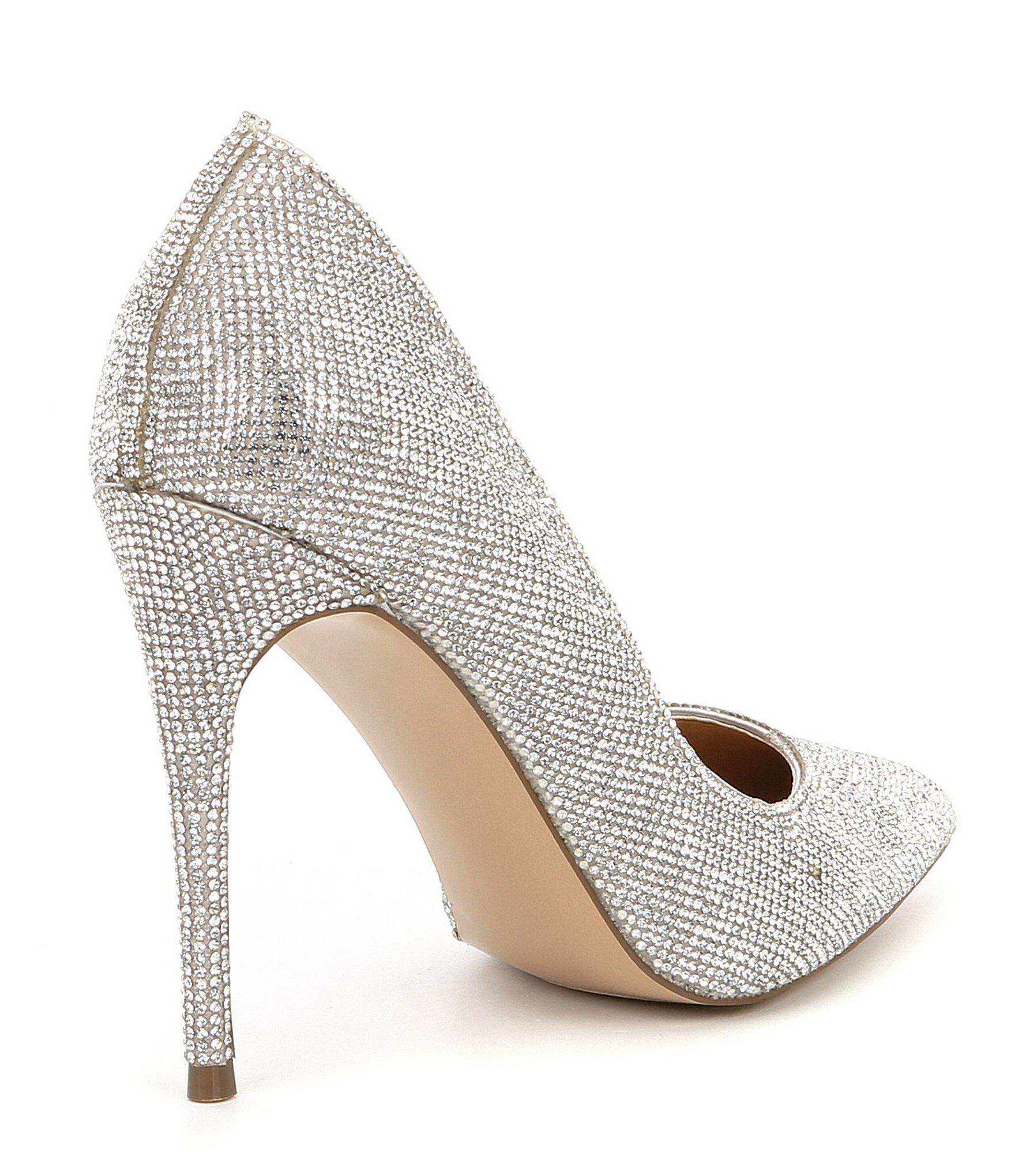 0cb610d5290e Steve Madden - Multicolor Daisie Crystal Jeweled Pointed Toe Pumps - Lyst.  View fullscreen