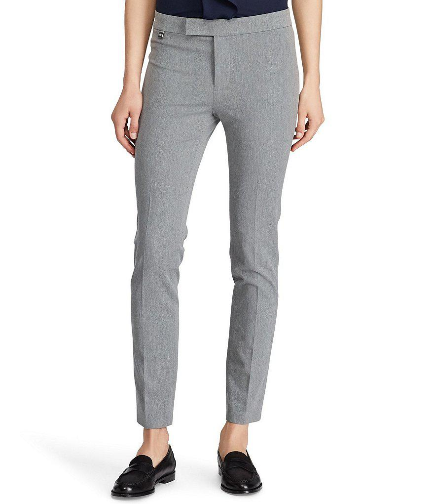 bfc90886fcdc Lauren by Ralph Lauren Petite Stretch Twill Skinny Pant in Gray - Lyst