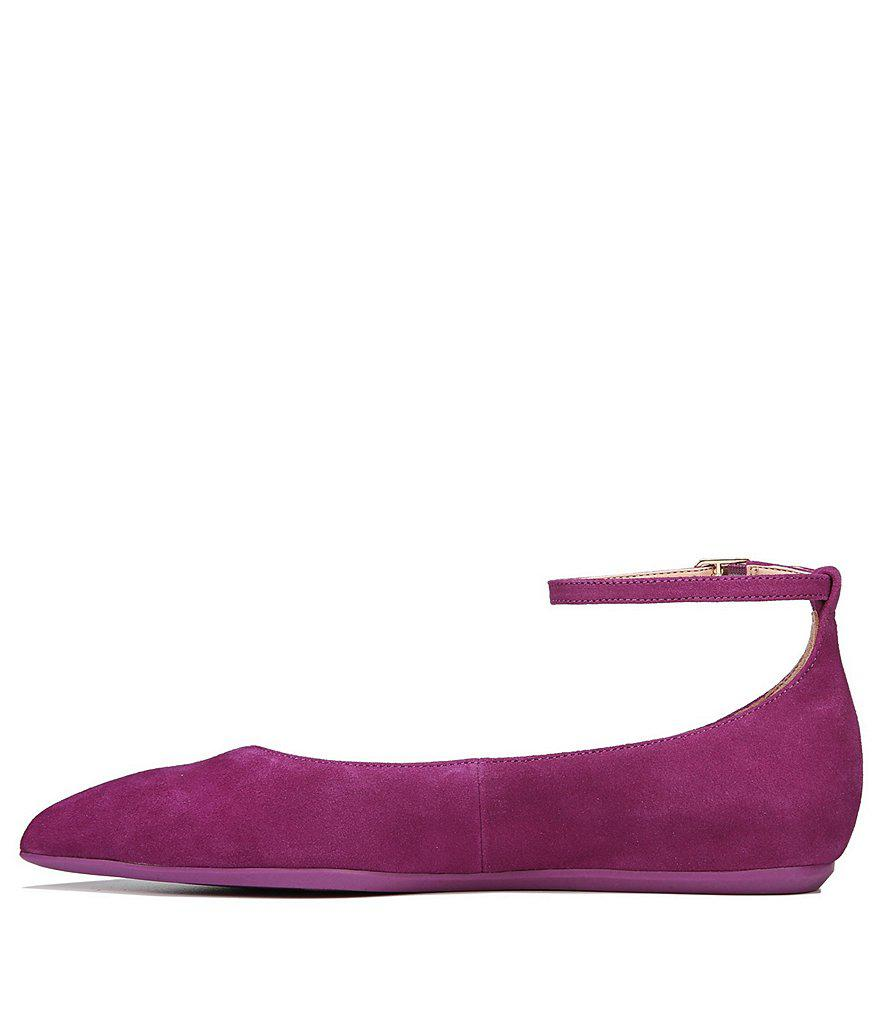 Alex Suede Ankle Strap Flats wo2Mtd