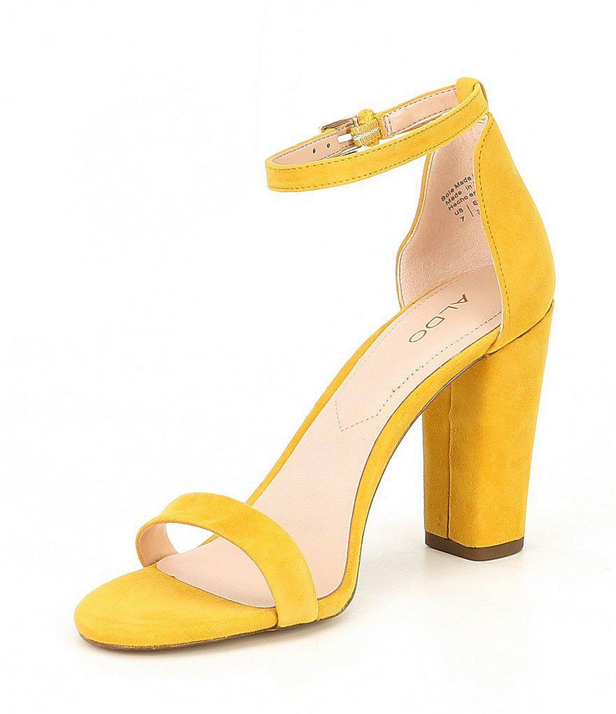 Aldo Myly Suede Ankle Strap Block Heel Dress Sandals j1e1Q