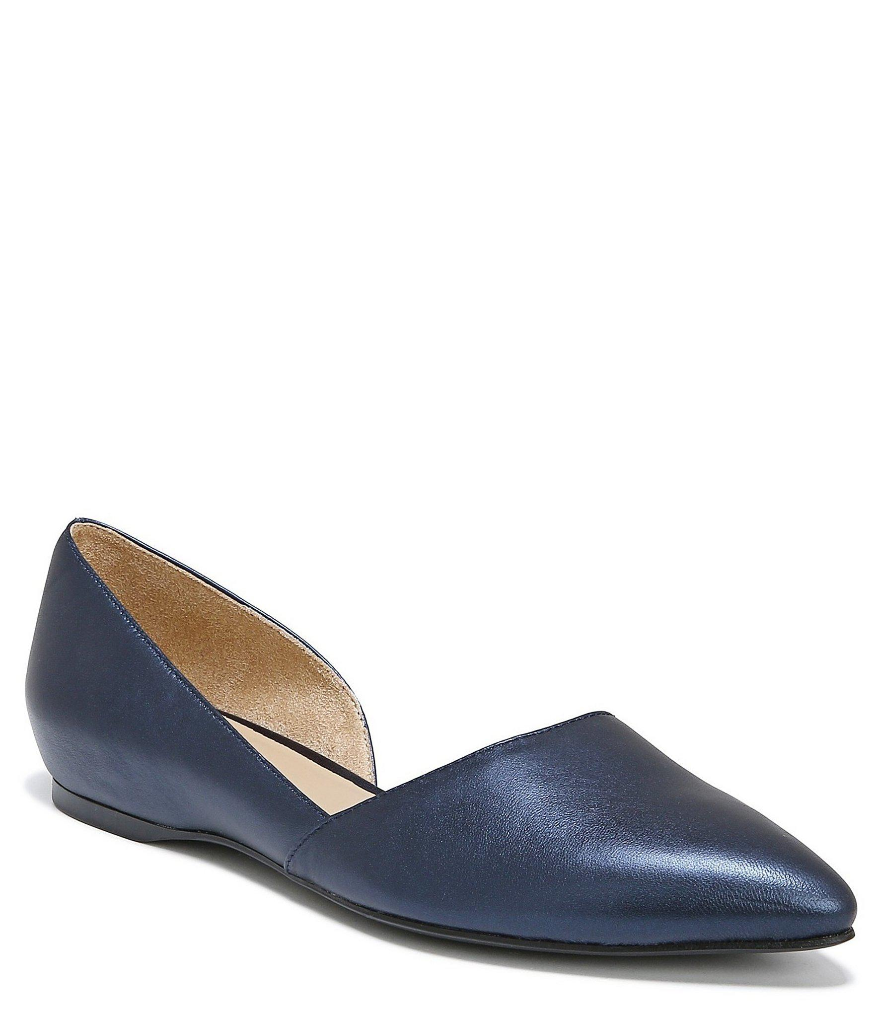 2e062bd1348f Lyst - Naturalizer Samantha Metallic Leather Flats in Blue