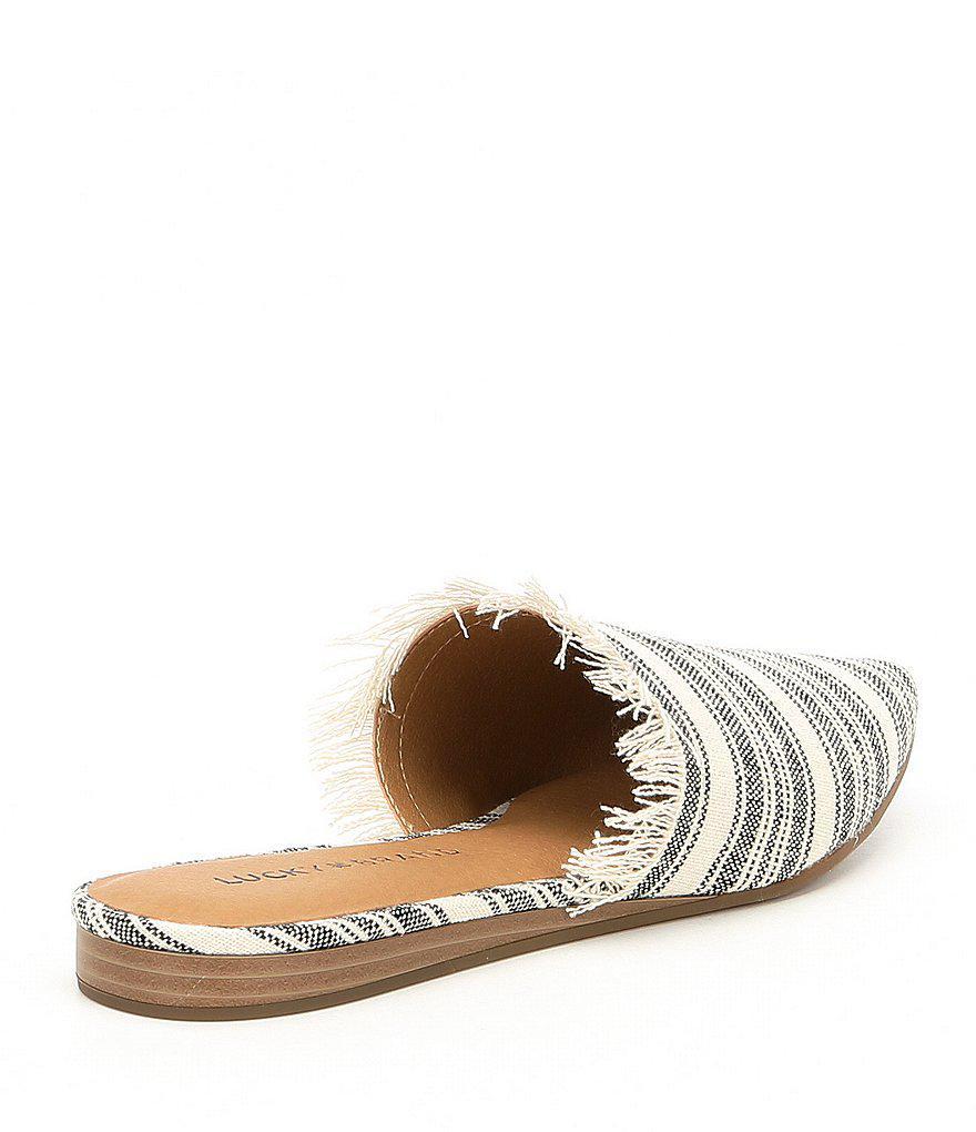 Bapsee Linen Striped Mules FxQove