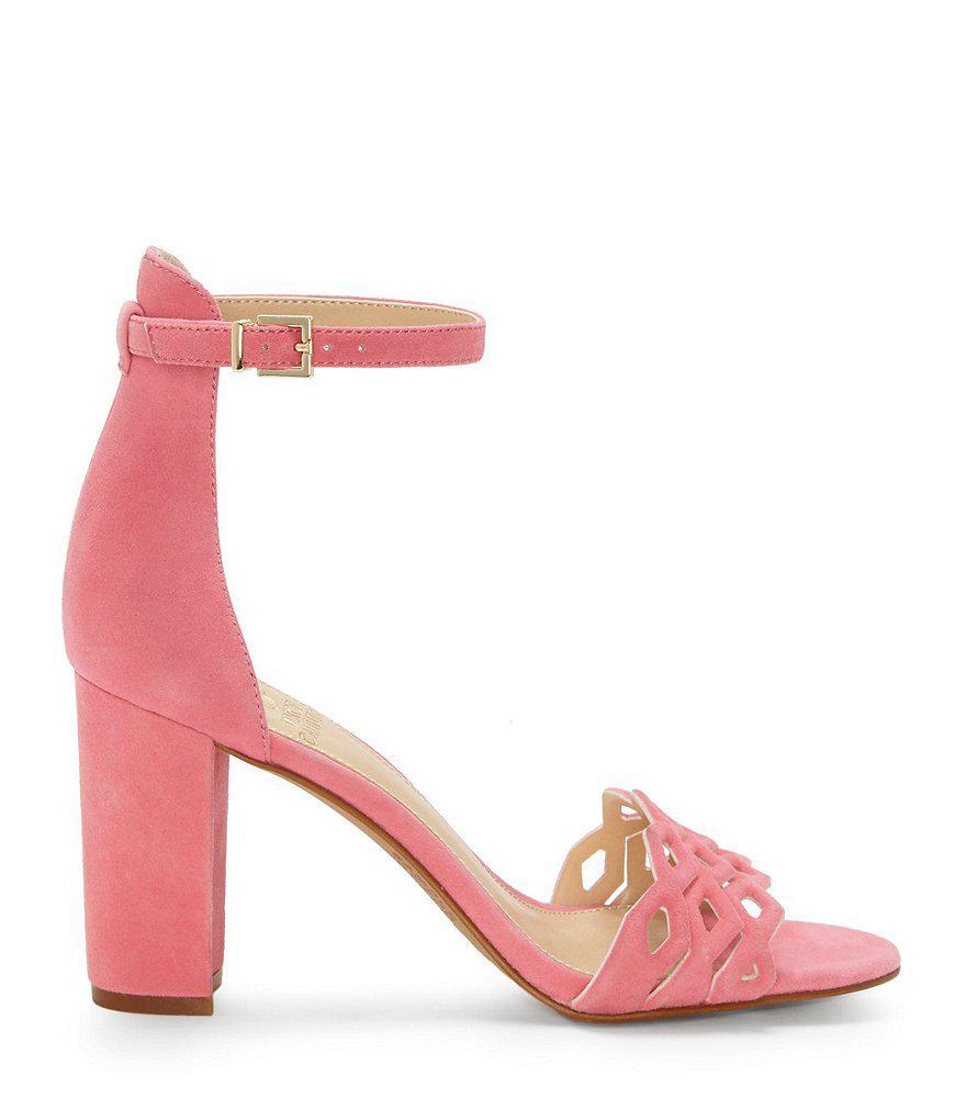 Caveena Suede Block Heel Dress Sandals XFSqJgV
