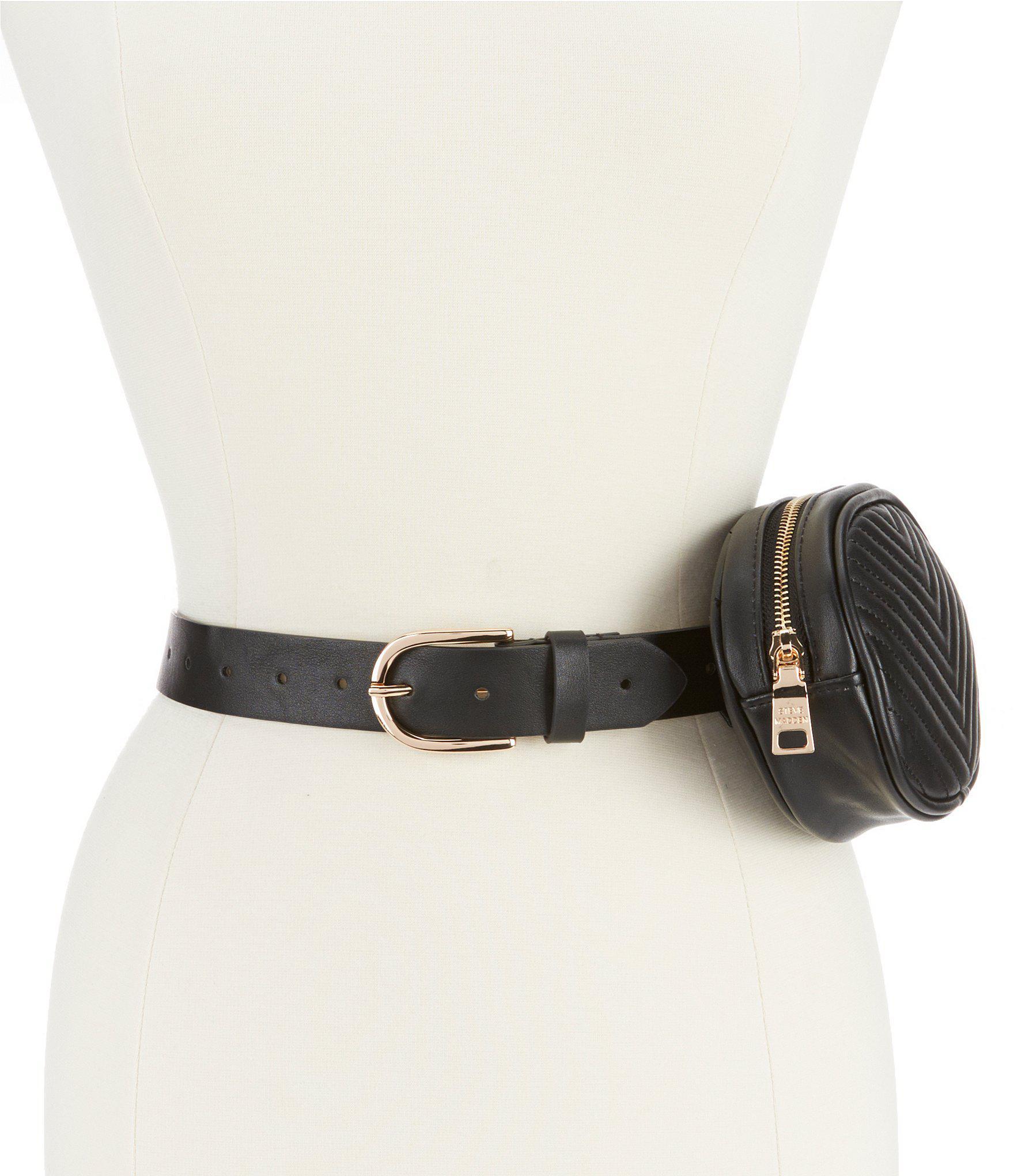 be717344d1cc Steve Madden Quilted Belt Bag in Black - Lyst