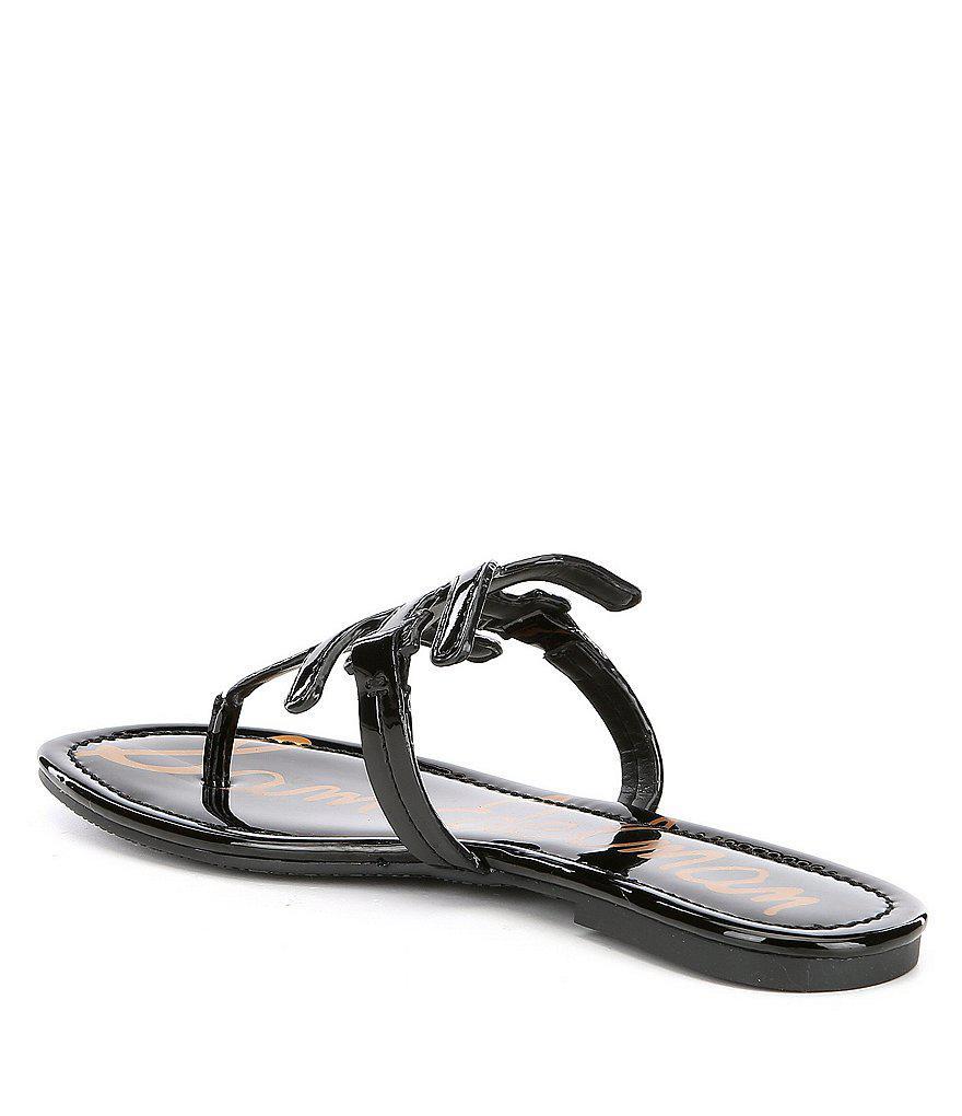 Sam Edelman Carter Patent Leather Double E Sandals PNqqoHeZgf