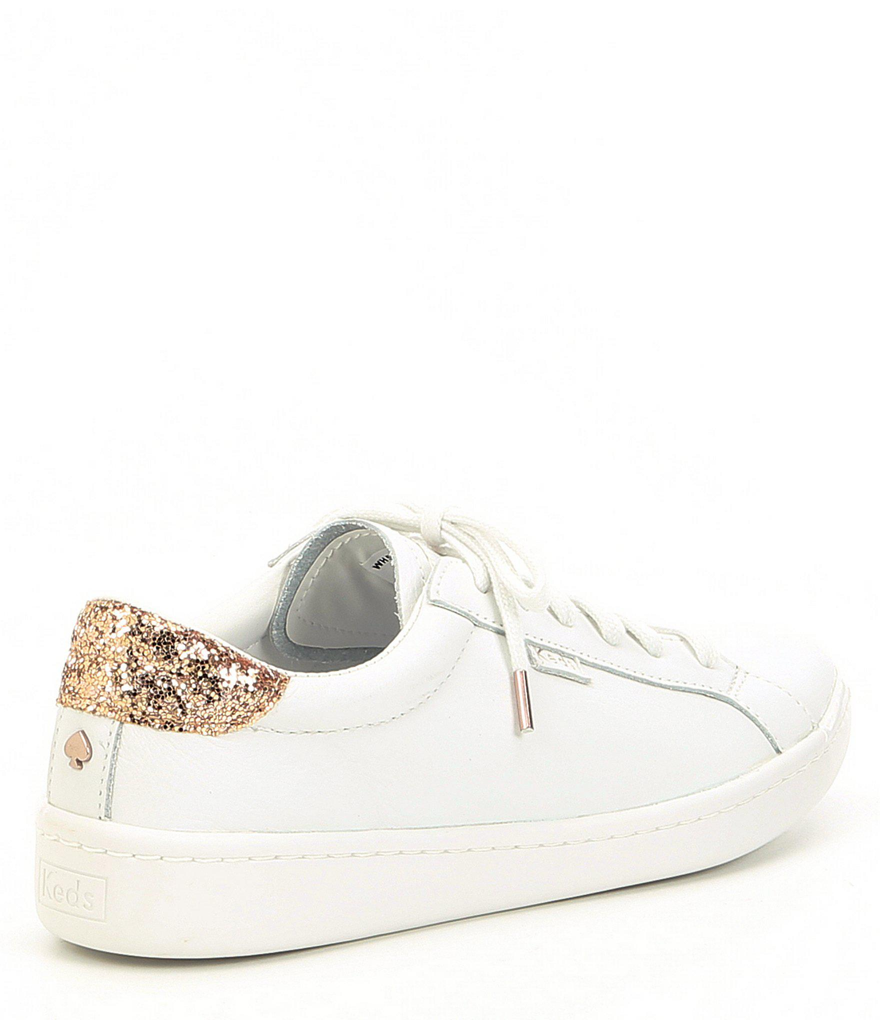 dc6044176a9 Lyst - Kate Spade Keds X Ace Leather And Glitter Detail Sneakers in ...