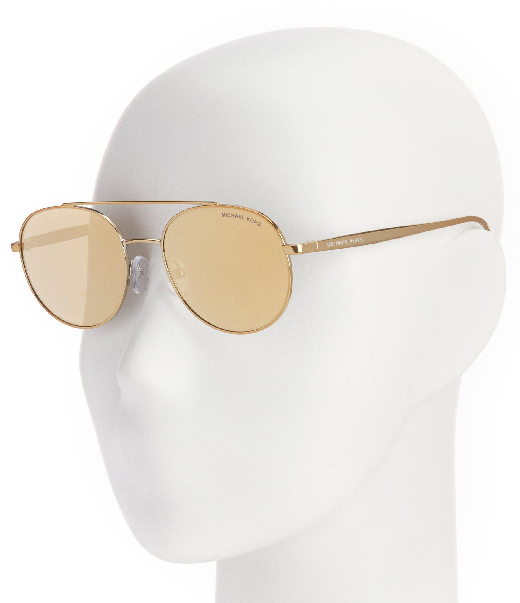 06e1f5223e522 Michael Kors - Metallic Mirrored Aviator Sunglasses - Lyst. View fullscreen