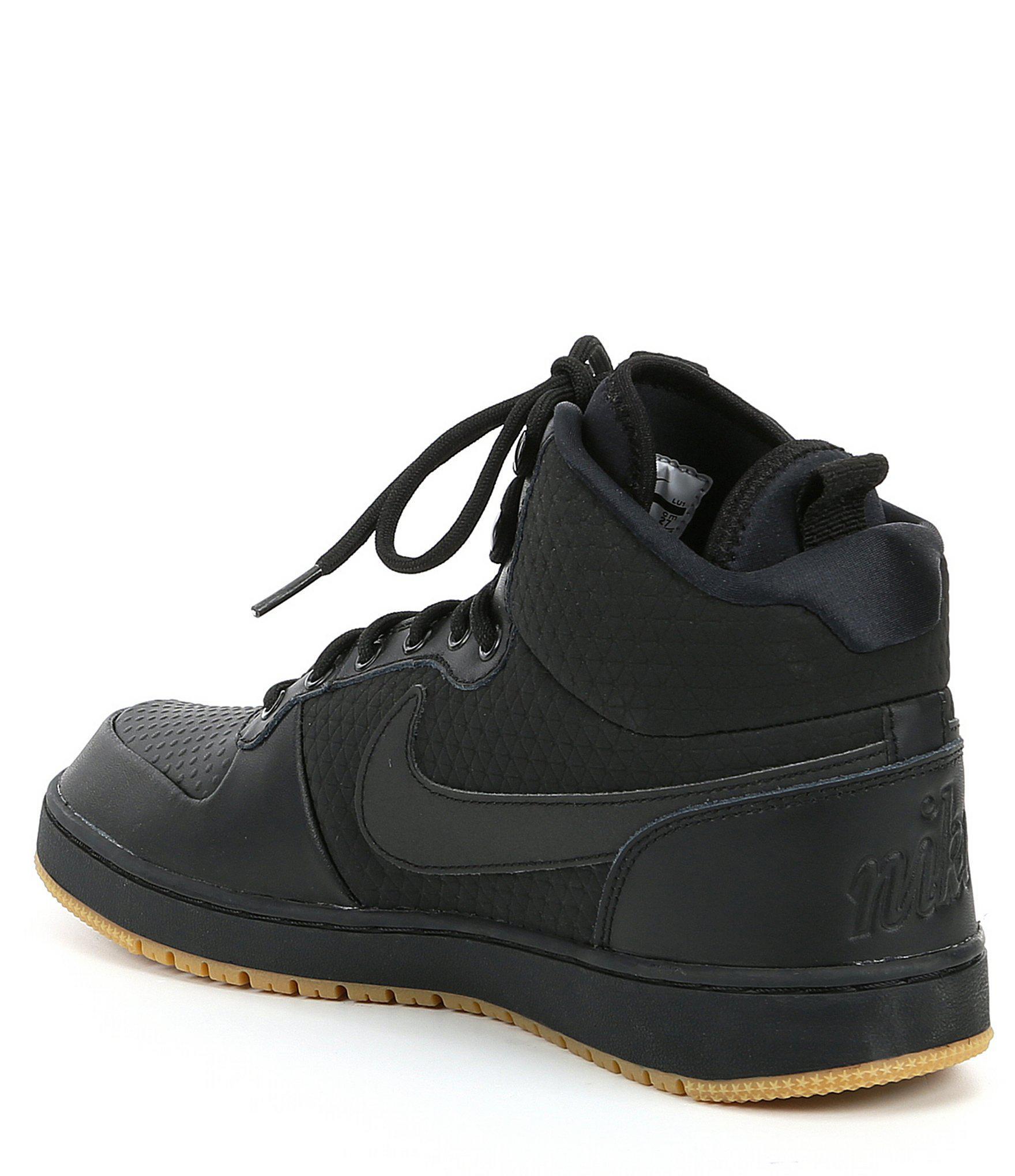 Lyst - Nike Men s Ebernon Mid Winter Lifestyle Sneaker in Black for Men f5eeaa0de4