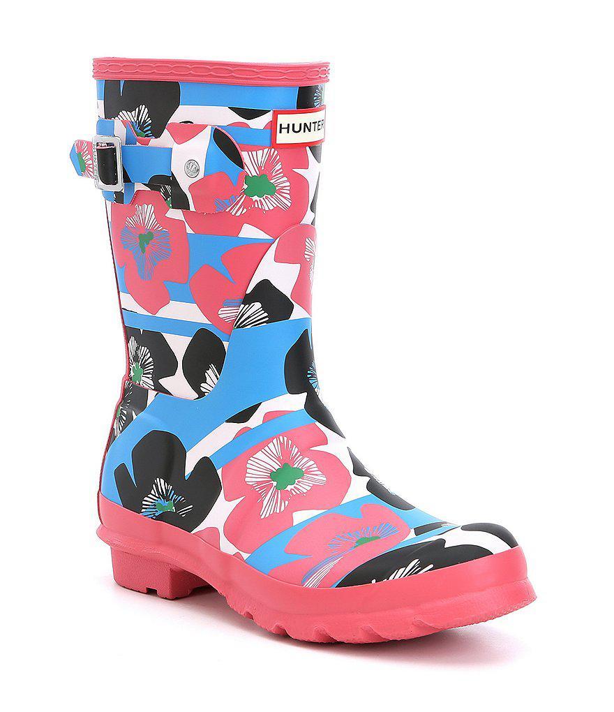 Hunter Floral Short Rain Boots yjNjBhUZ01