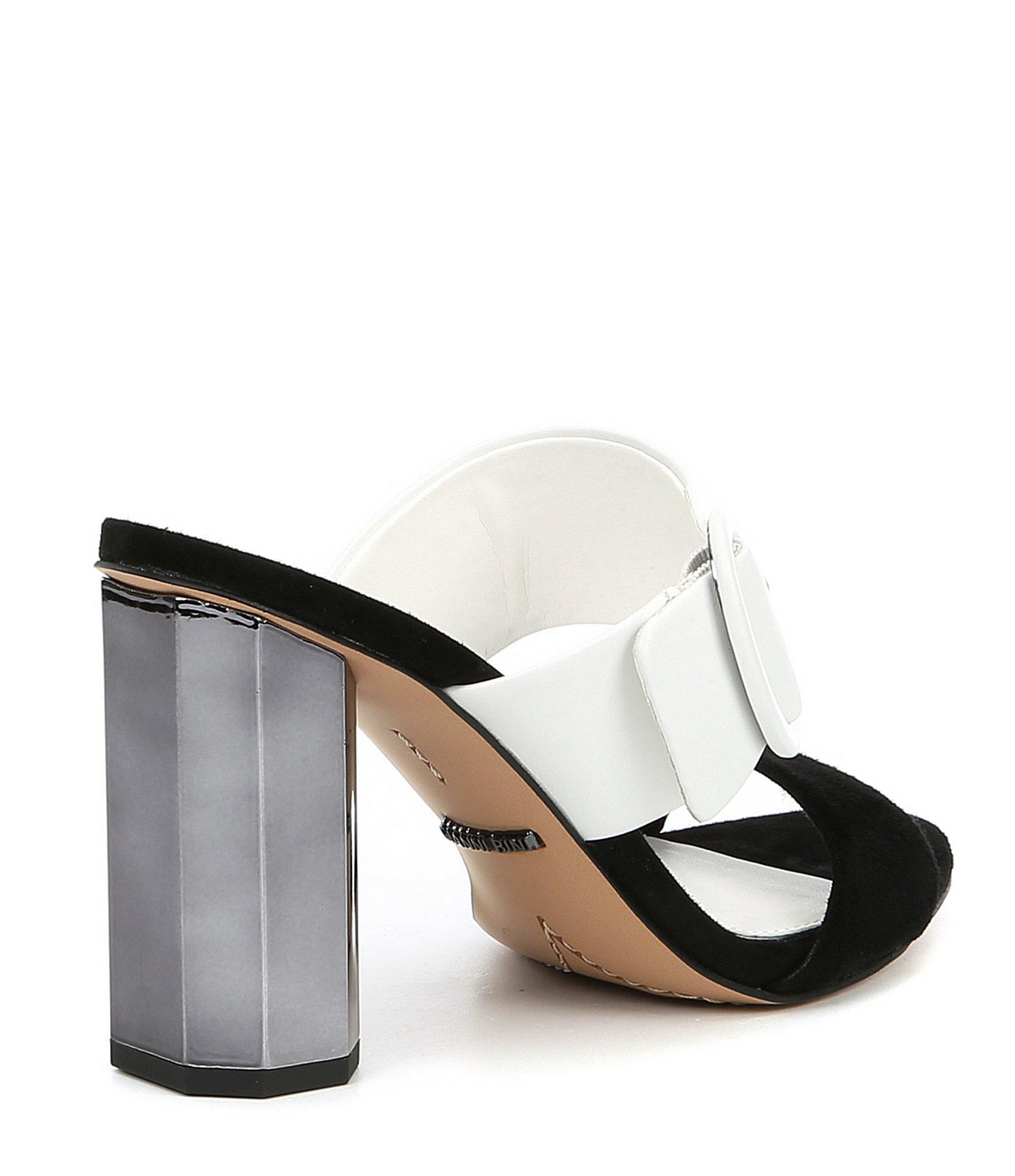 6ab97216ac4 Gianni Bini - Black Ramey Colorblock Block Heel Mules - Lyst. View  fullscreen
