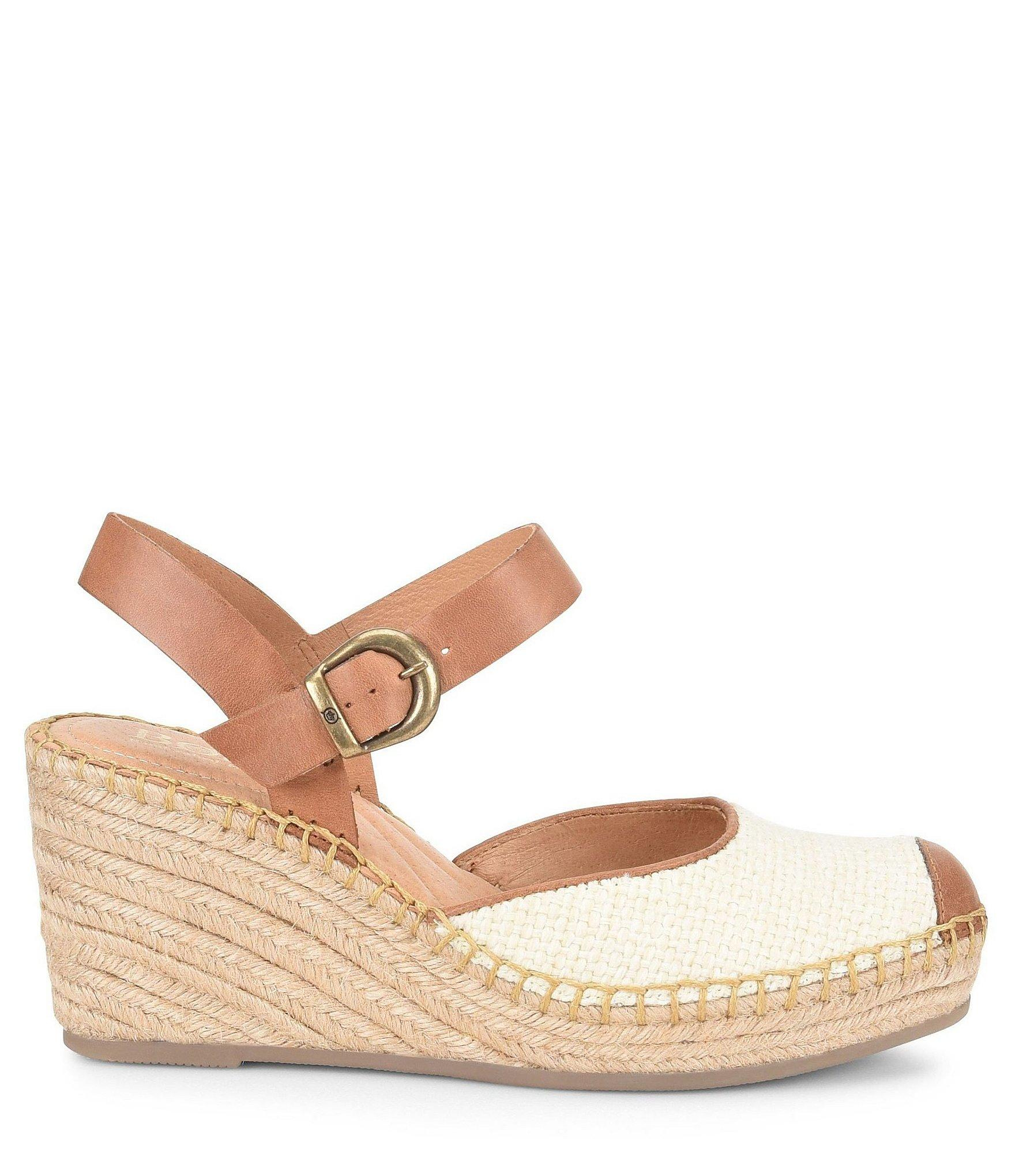 e15d22a1ea86 Born - Brown Guadalupe Leather Wrapped Wedge Espadrilles - Lyst. View  fullscreen