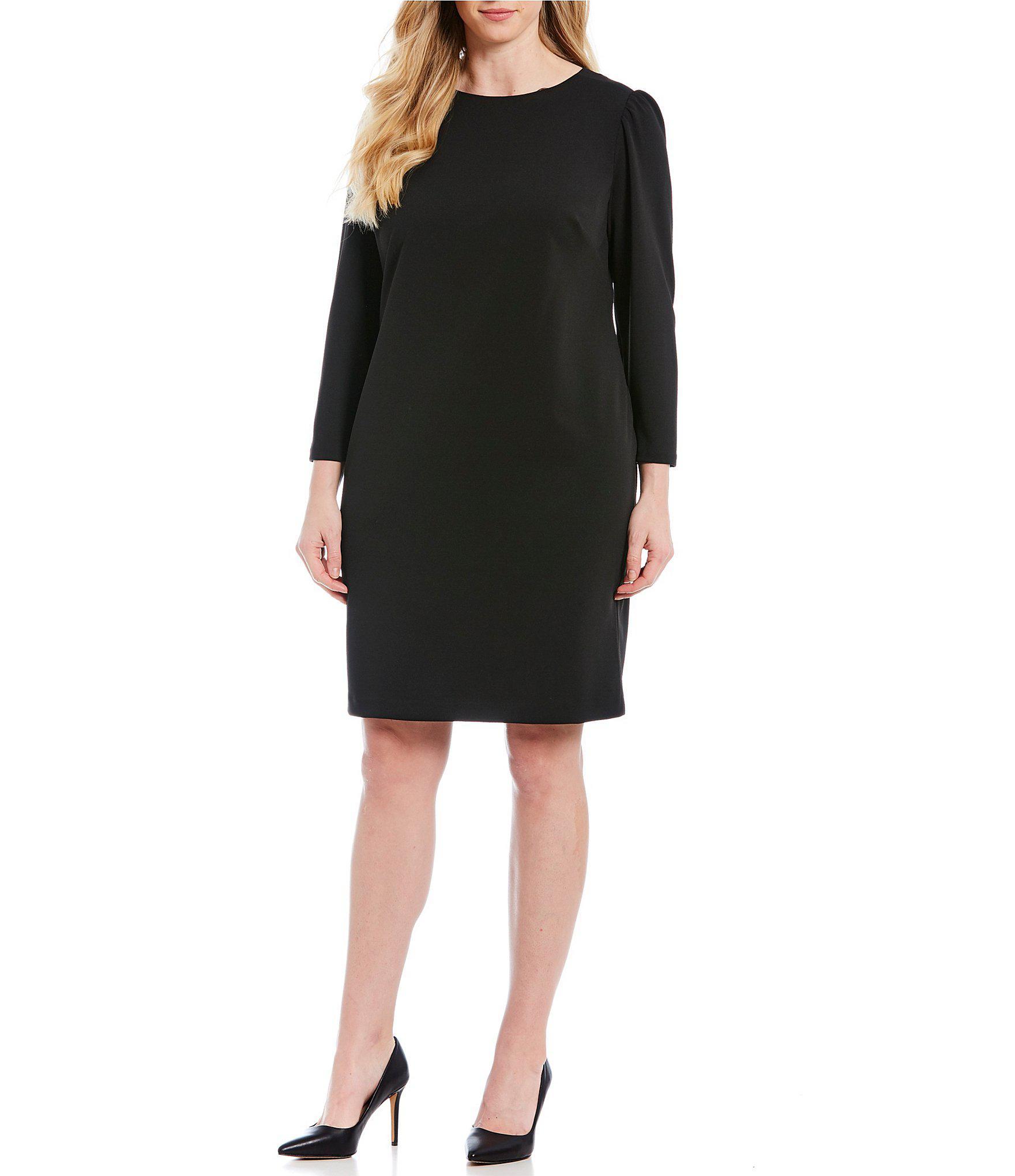 3d797f5145a Vince Camuto. Women s Black Plus Size Crepe Shift Dress.  134 From Dillard s