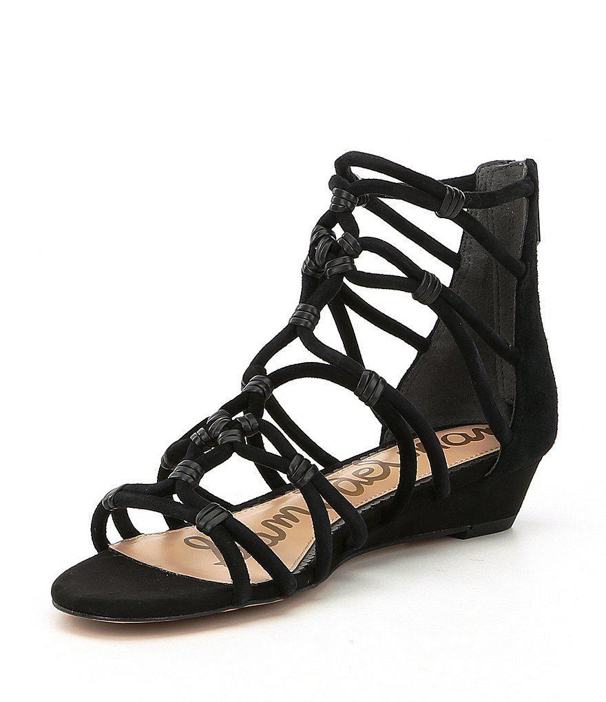 c6c28451e8cf Lyst - Sam Edelman Daryn Demi Suede Gladiator Wedge Sandals in Brown