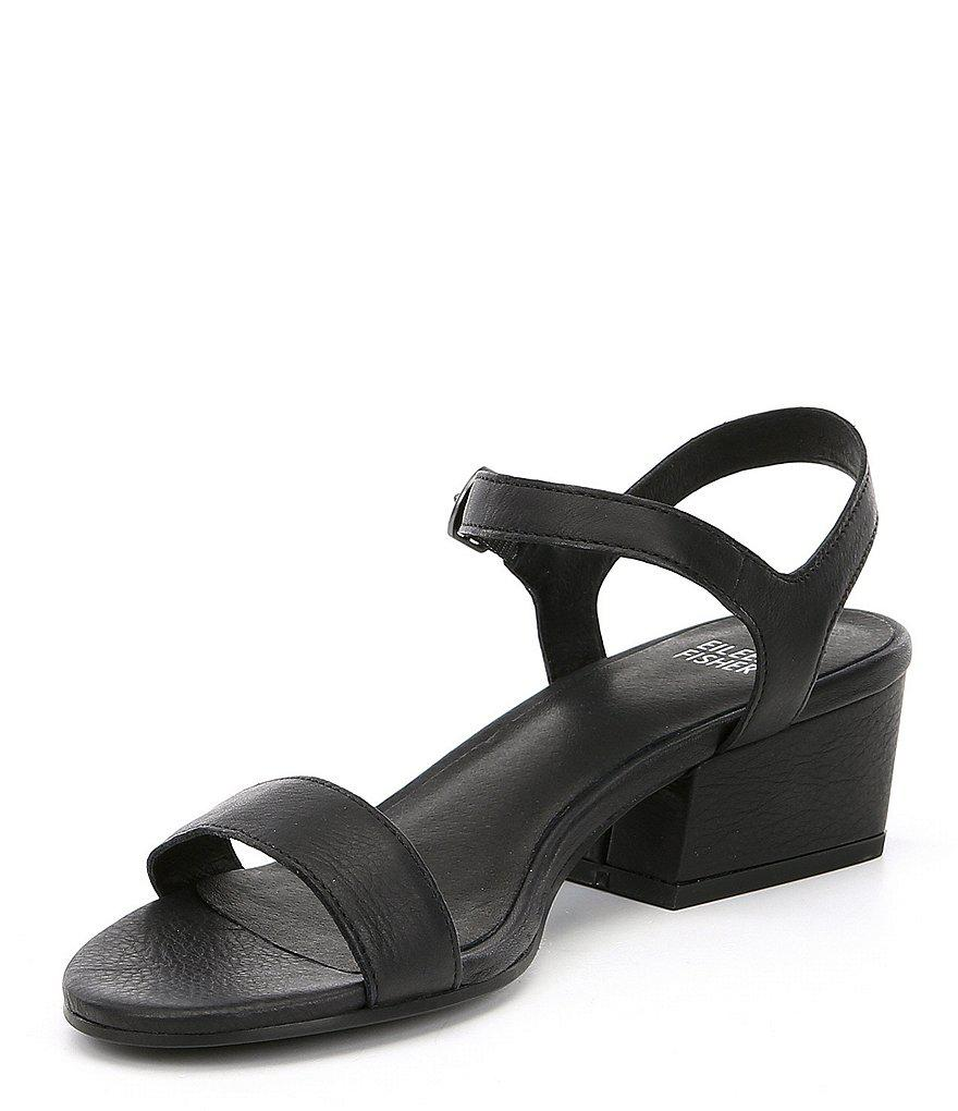 Eileen Fisher Olean Block Heel Sandals 79vGcY6