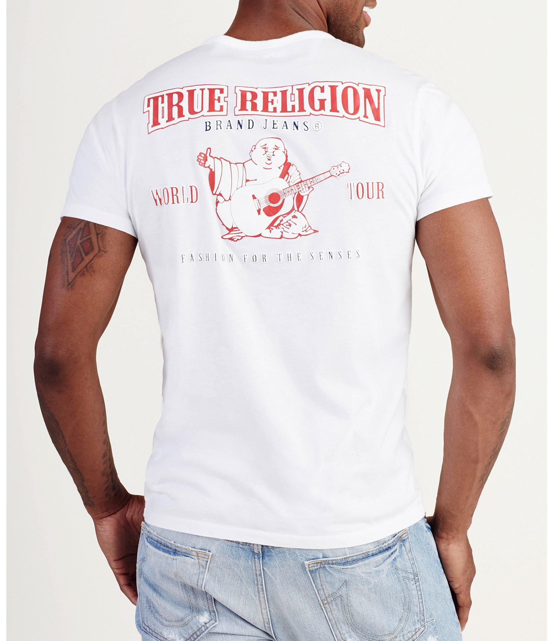 b10b4d3e True Religion - White Double Puff Crew Neck Short-sleeve Graphic Tee for Men  -. View fullscreen