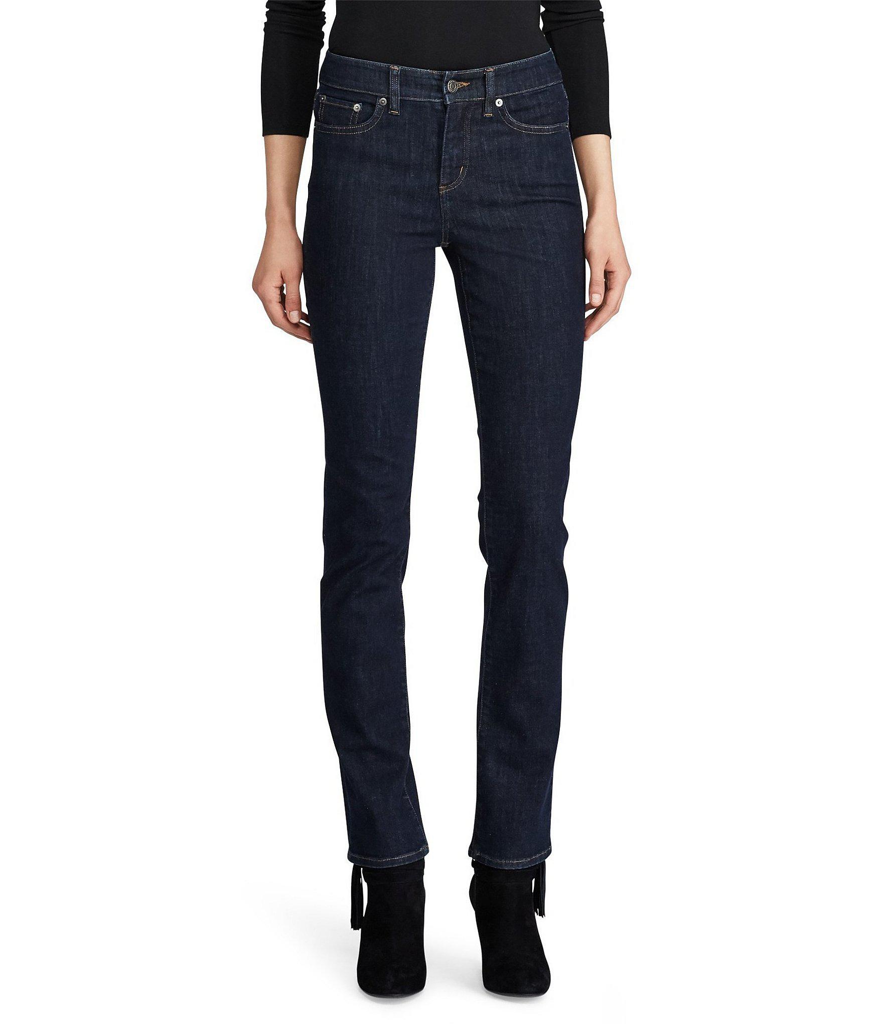 17d1f997a49 Lauren by Ralph Lauren. Women s Blue Ultimate Slimming Premier Straight  Curvy Jeans
