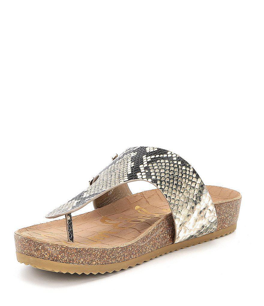 Sam Edelman Olga Snake Printed Double E Sandals 4sVwNDE4N