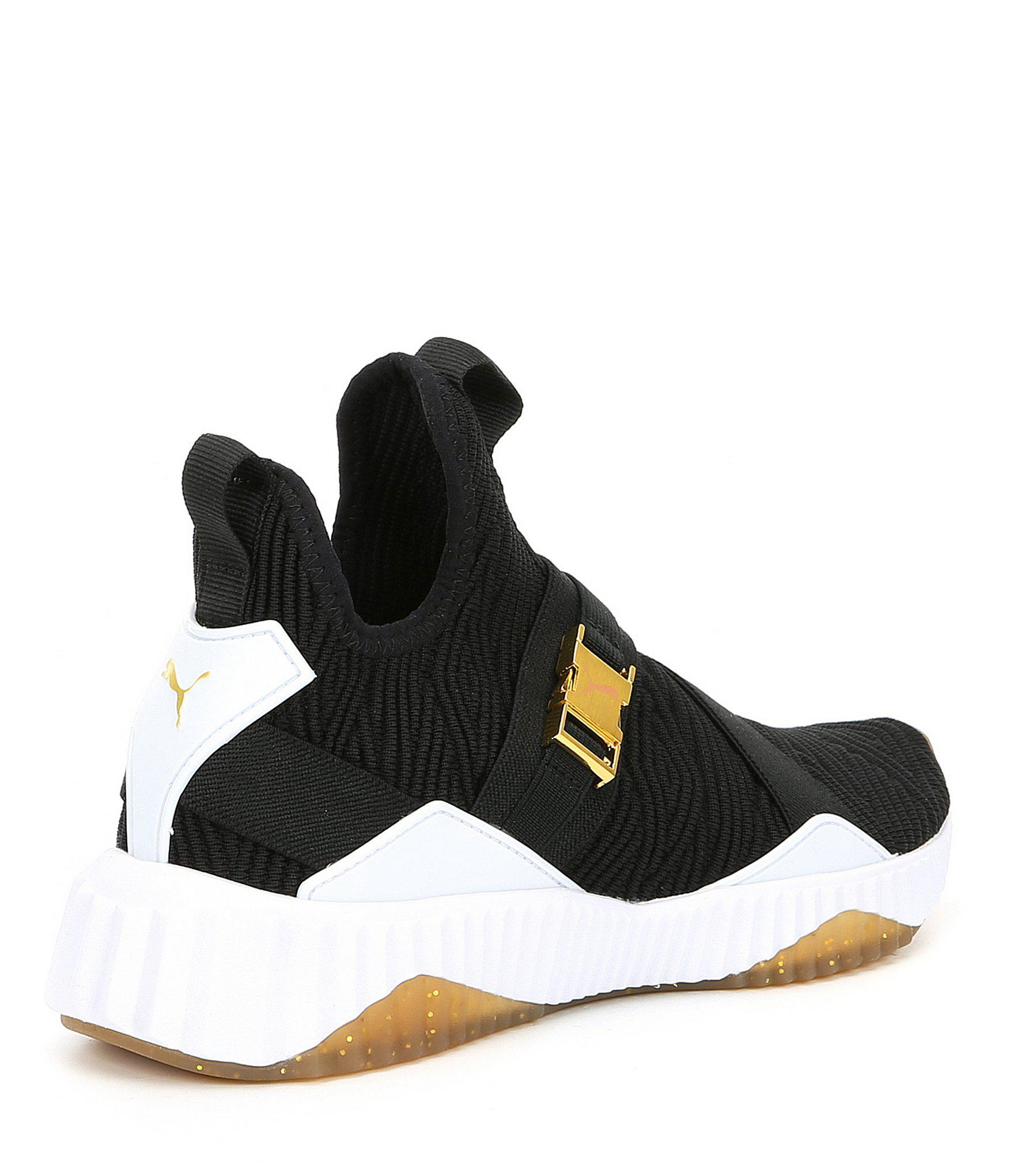 e6504ffd76b1 PUMA - Black Women s Defy Mid Varsity Sneakers - Lyst. View fullscreen