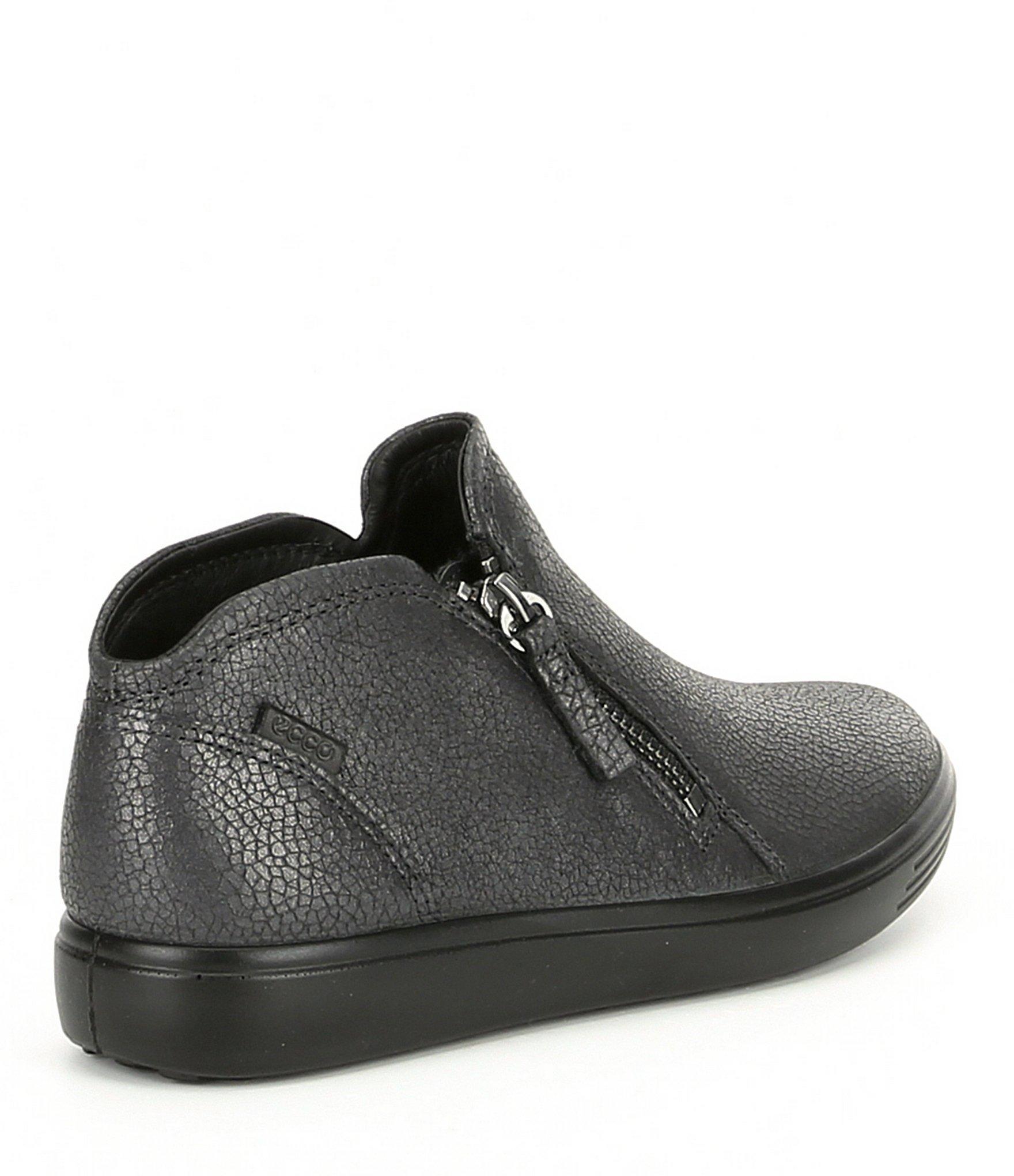 3d7cb1db23 Lyst - Ecco Women's Soft Low Cut Zip Bootie Sneakers in Gray
