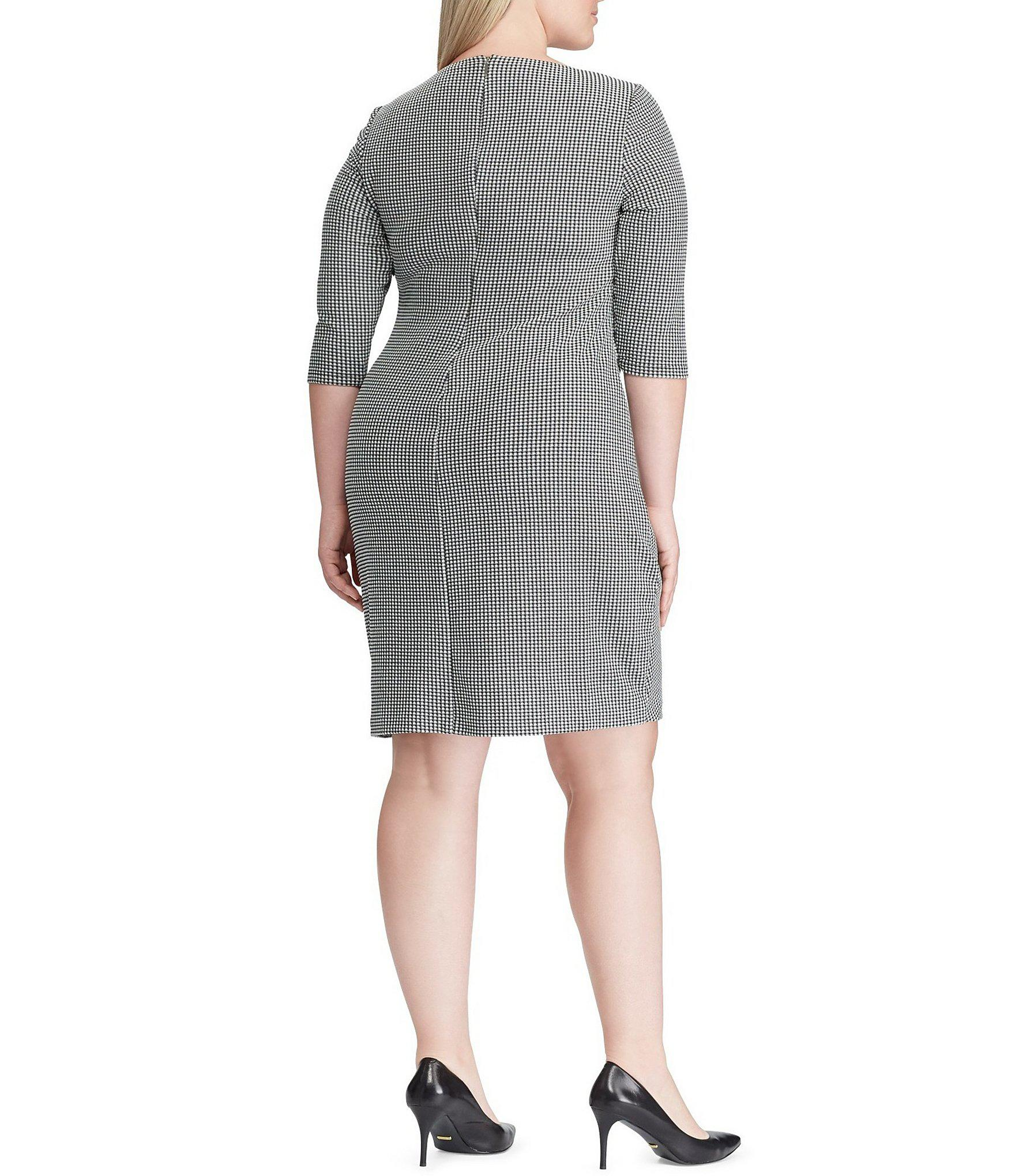 Lyst - Lauren By Ralph Lauren Plus-size Houndstooth Jacquard ...