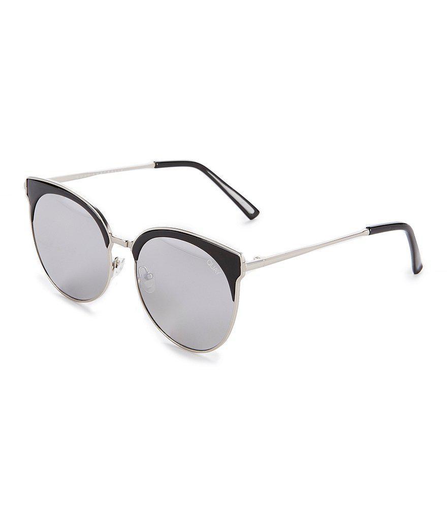 a51d7188fb Quay Mia Bella Round Cat-eye Sunglasses in Metallic - Lyst