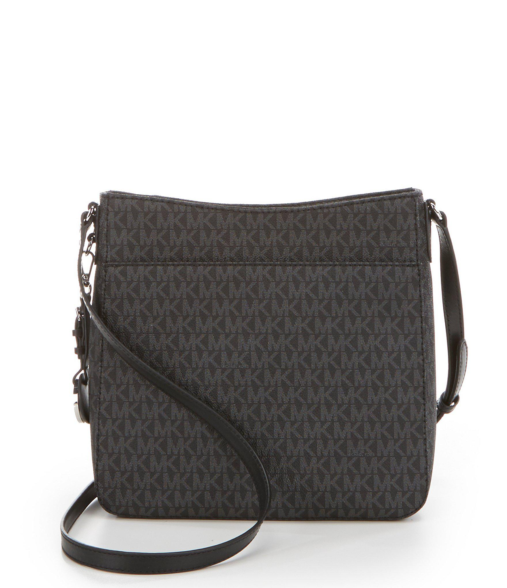 178e28a9e9f MICHAEL Michael Kors - Black Signature Small Cross-body Bag - Lyst. View  fullscreen