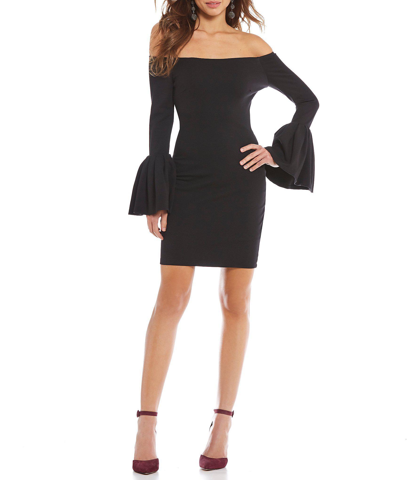 adeb68b4ad3 Gianni Bini Raissa Fluted Sleeve Dress in Black - Lyst